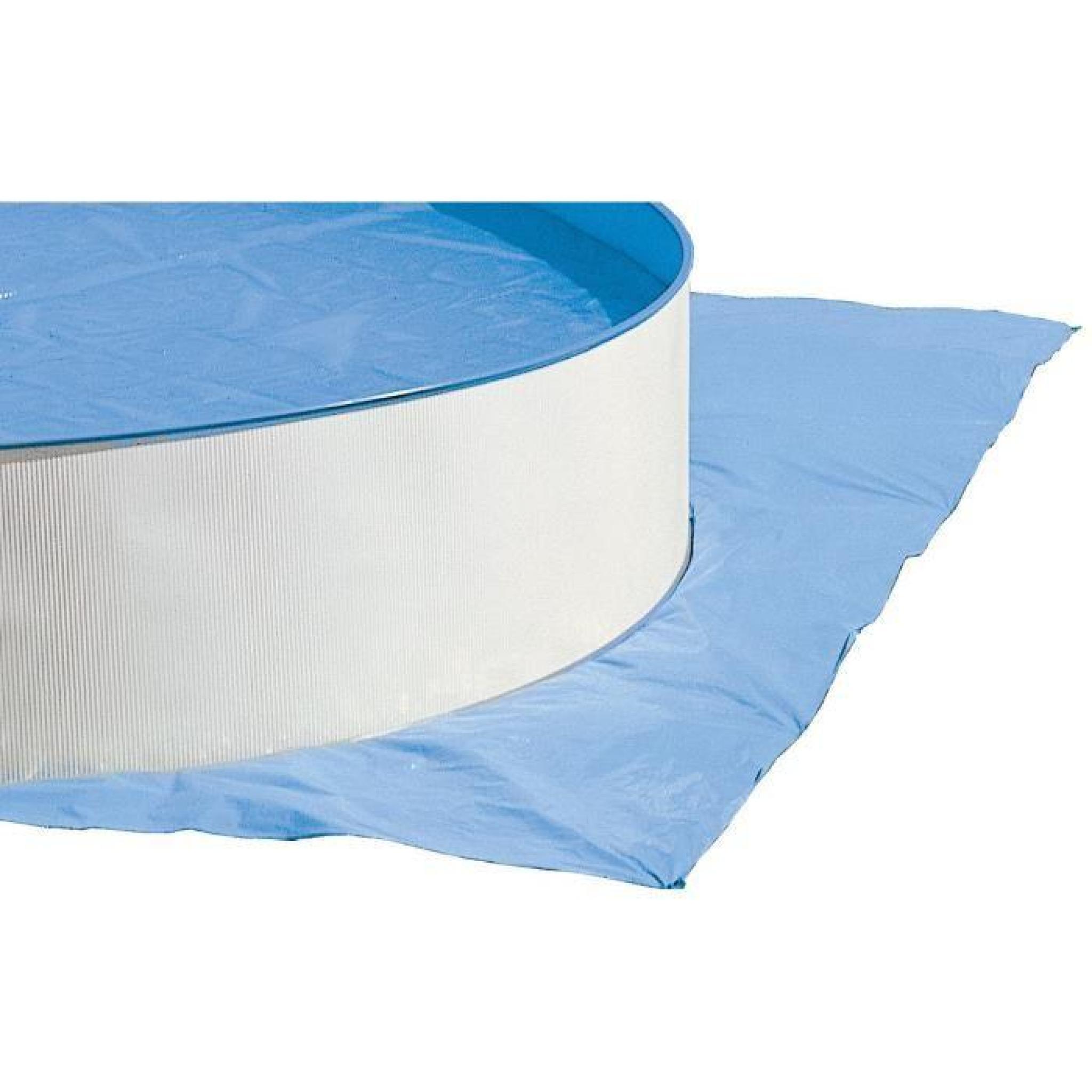 Prestigio piscine ovale en acier avec tapis 730x366x120cm - Piscine hors sol acier pas cher ...