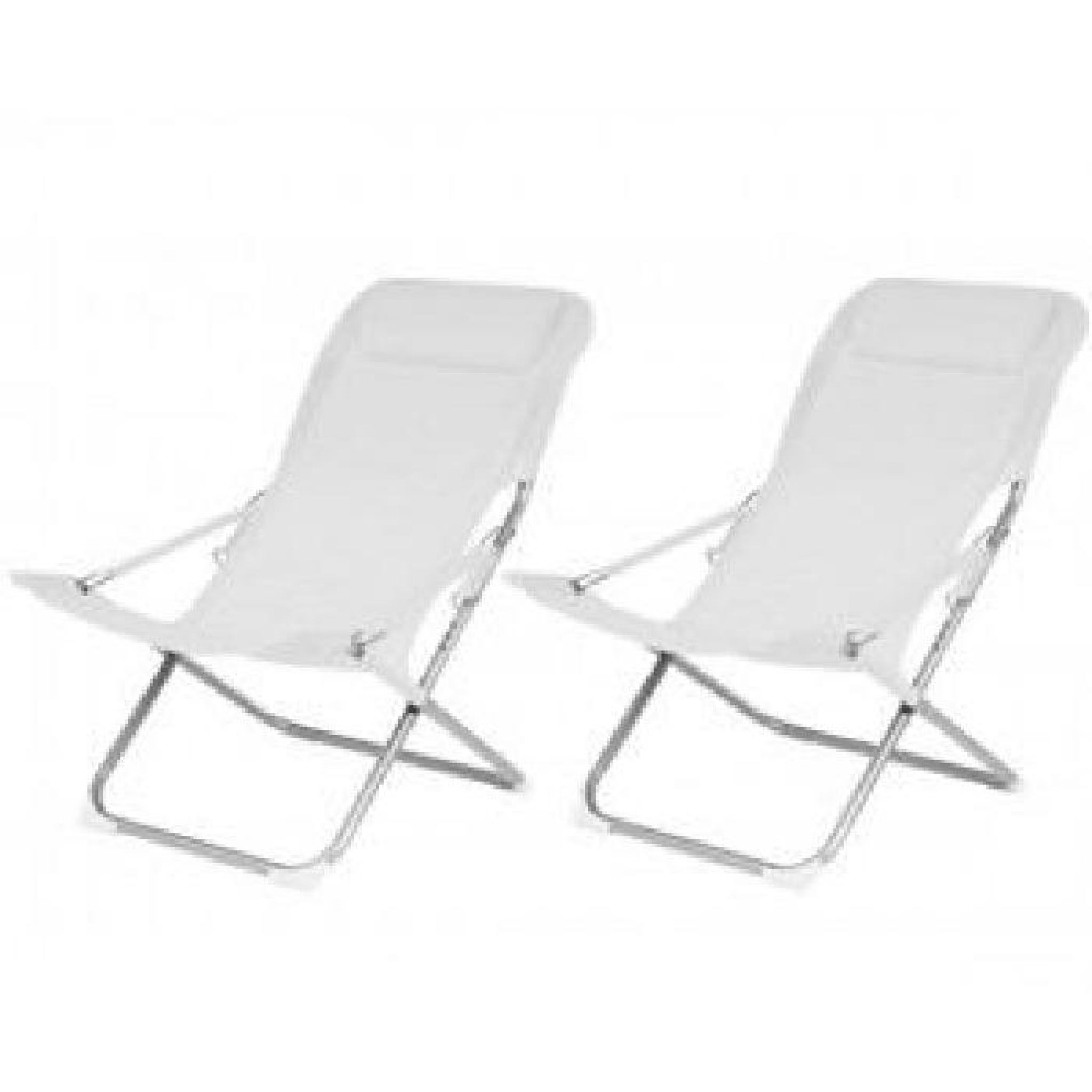 Relax noum a blanc lot de 2 longueur 88cm achat for Amenagement jardin noumea