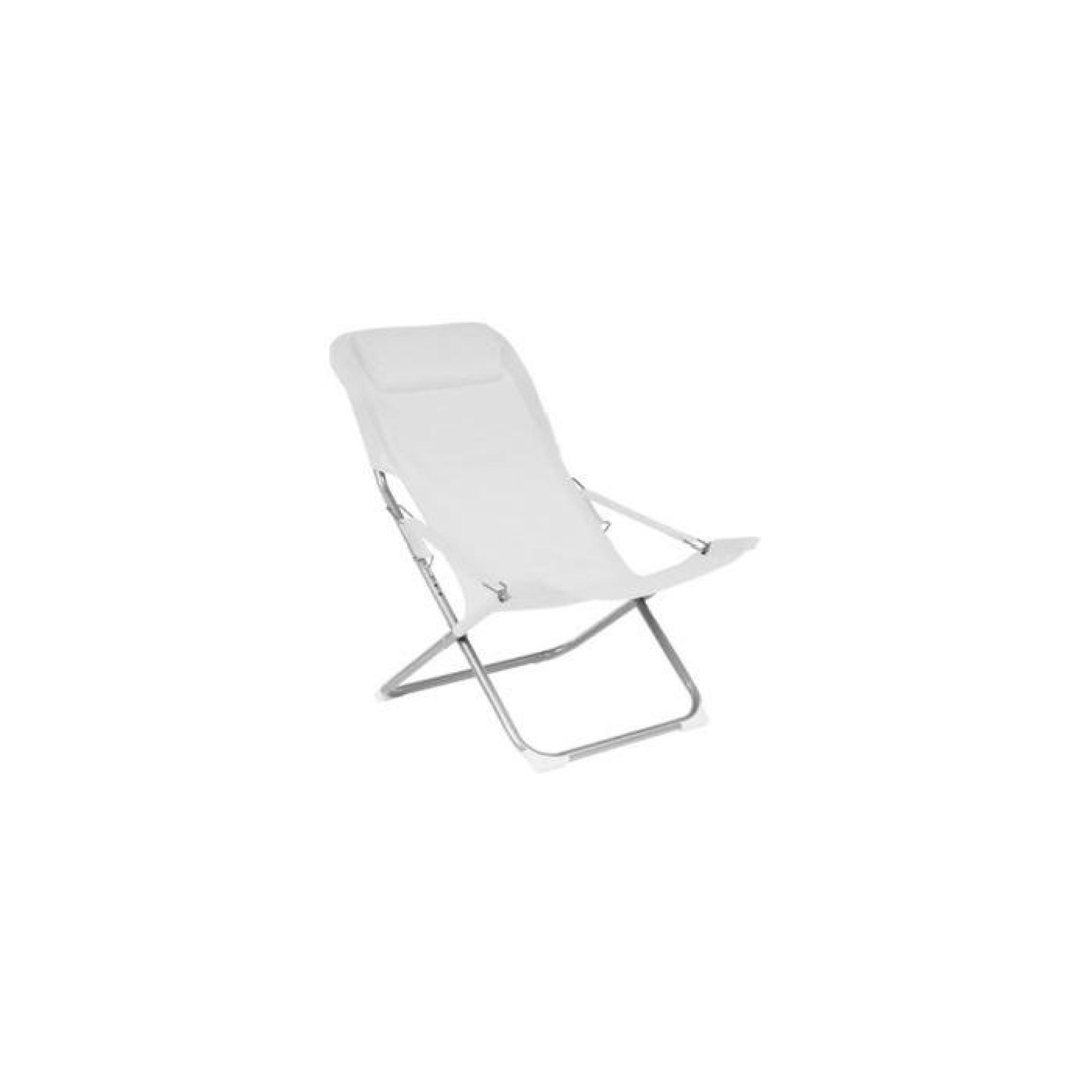 Relax noum a blanc lot de 2 longueur 88cm achat for Transat de jardin pas cher