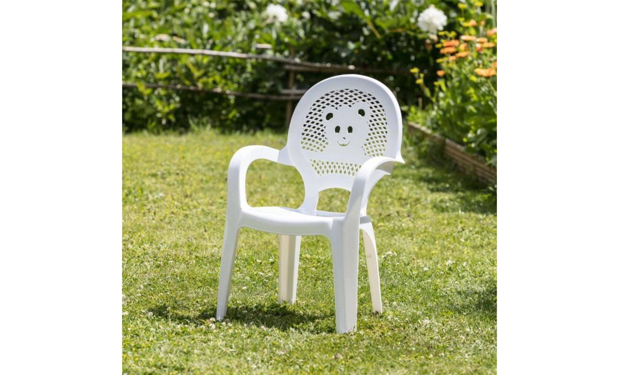 resol enfants enfants jardin extérieur chaise en plastique bleu enfants meubles (lot de 2 chaises)