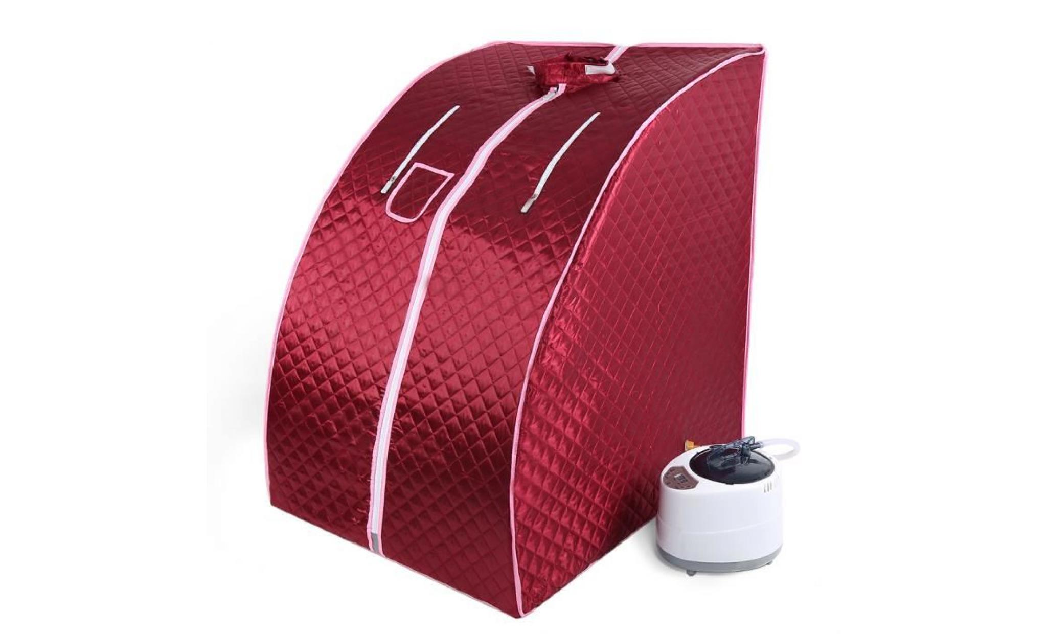 rouge sauna infrarouge pliable, cabine de sauna portable maison  mobile