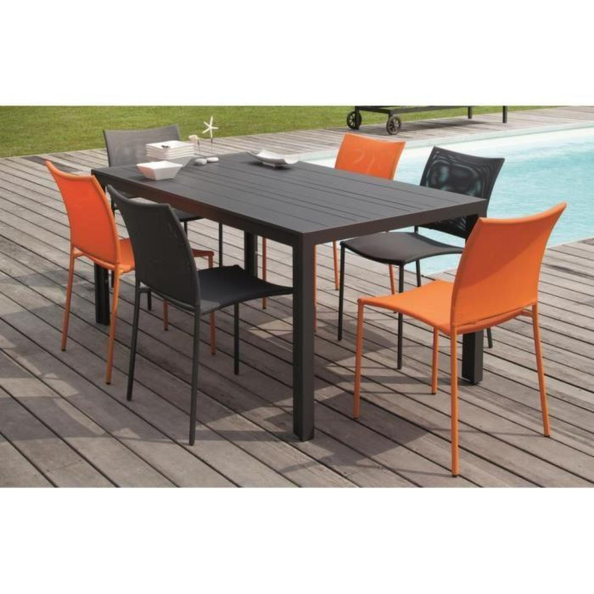 Salon Bretagne 1 table + 6 chaises orange Orange - Achat/Vente salon ...