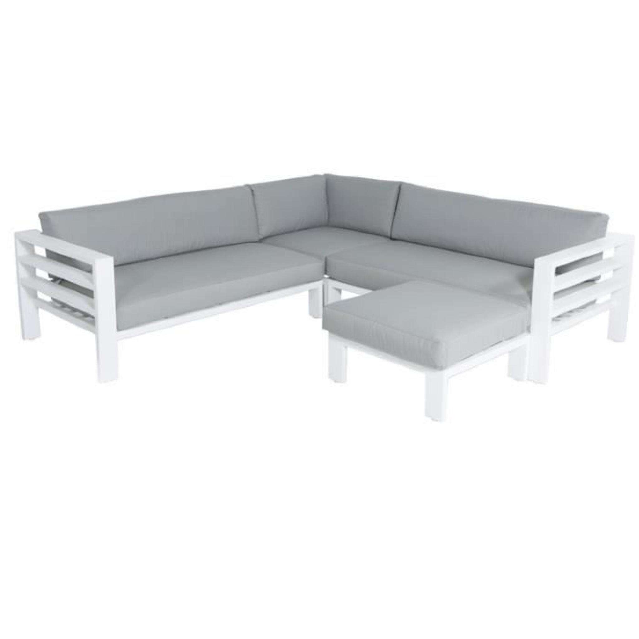 Salon d\'angle de jardin en aluminium Adelaïde - Achat/Vente salon de ...
