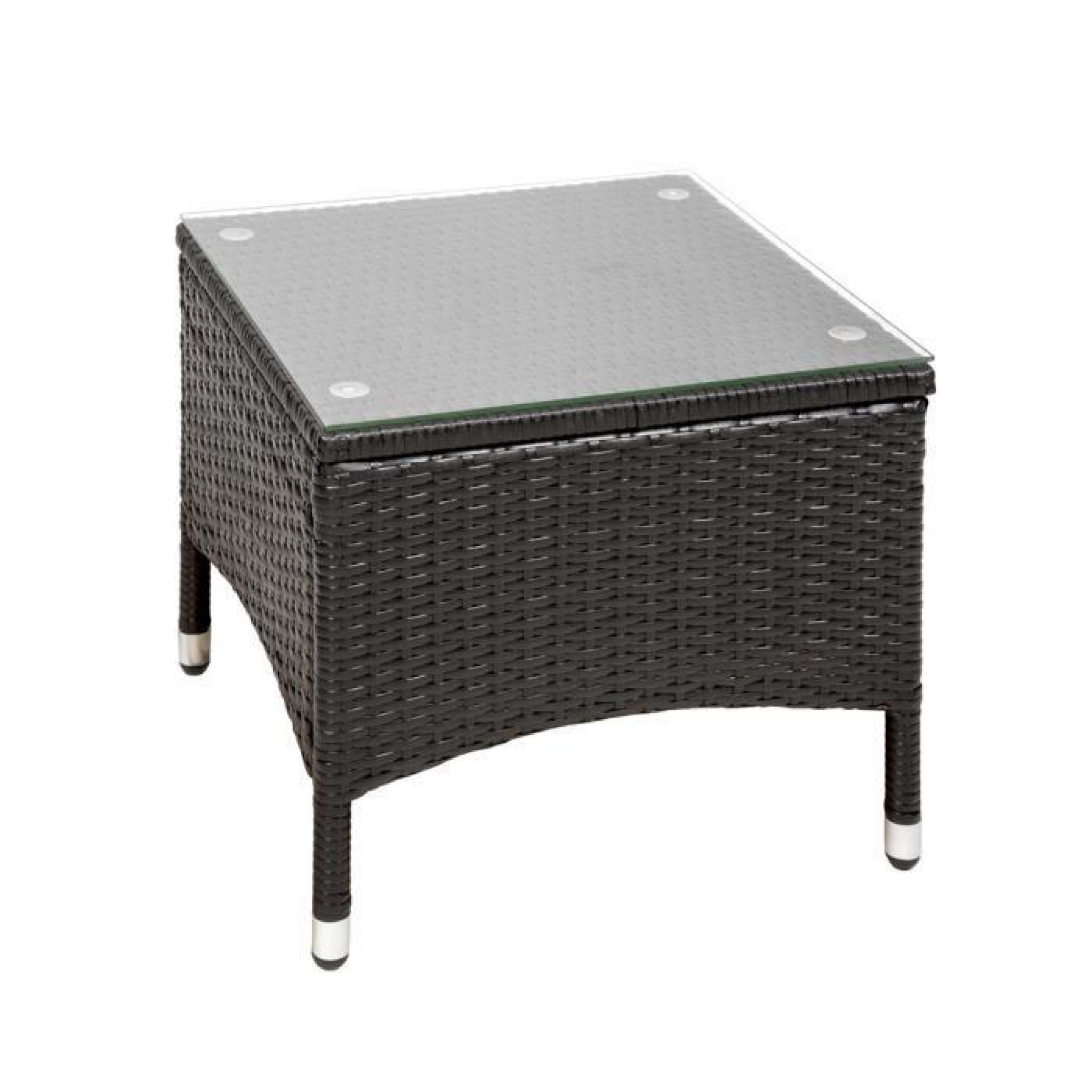 salon de jardin ambre 2 chaises fauteuils et 1 table en r sine tress e poly rotin structure. Black Bedroom Furniture Sets. Home Design Ideas