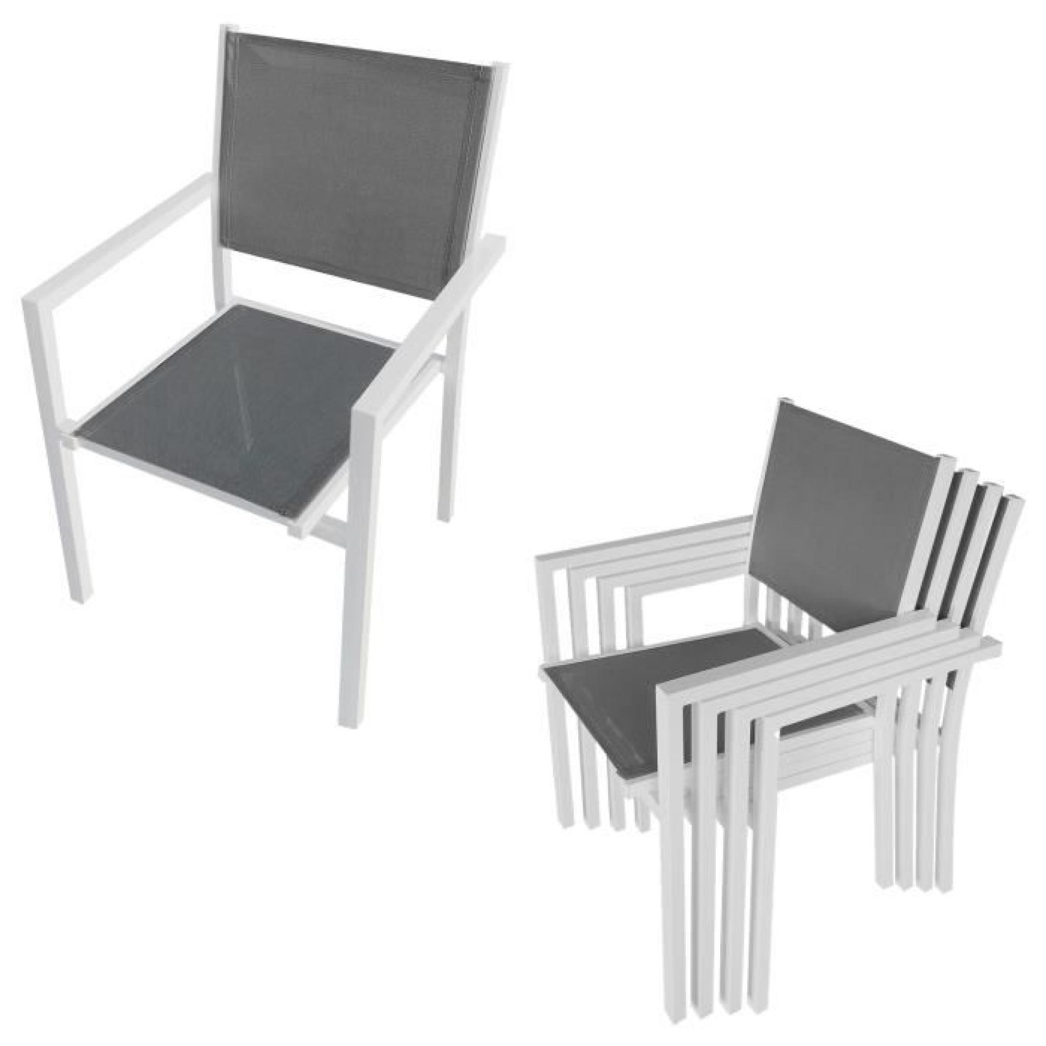 Salon de jardin cagliari en textil ne gris 8 places aluminium anthracite achat vente salon - Salon de jardin aluminium pas cher ...