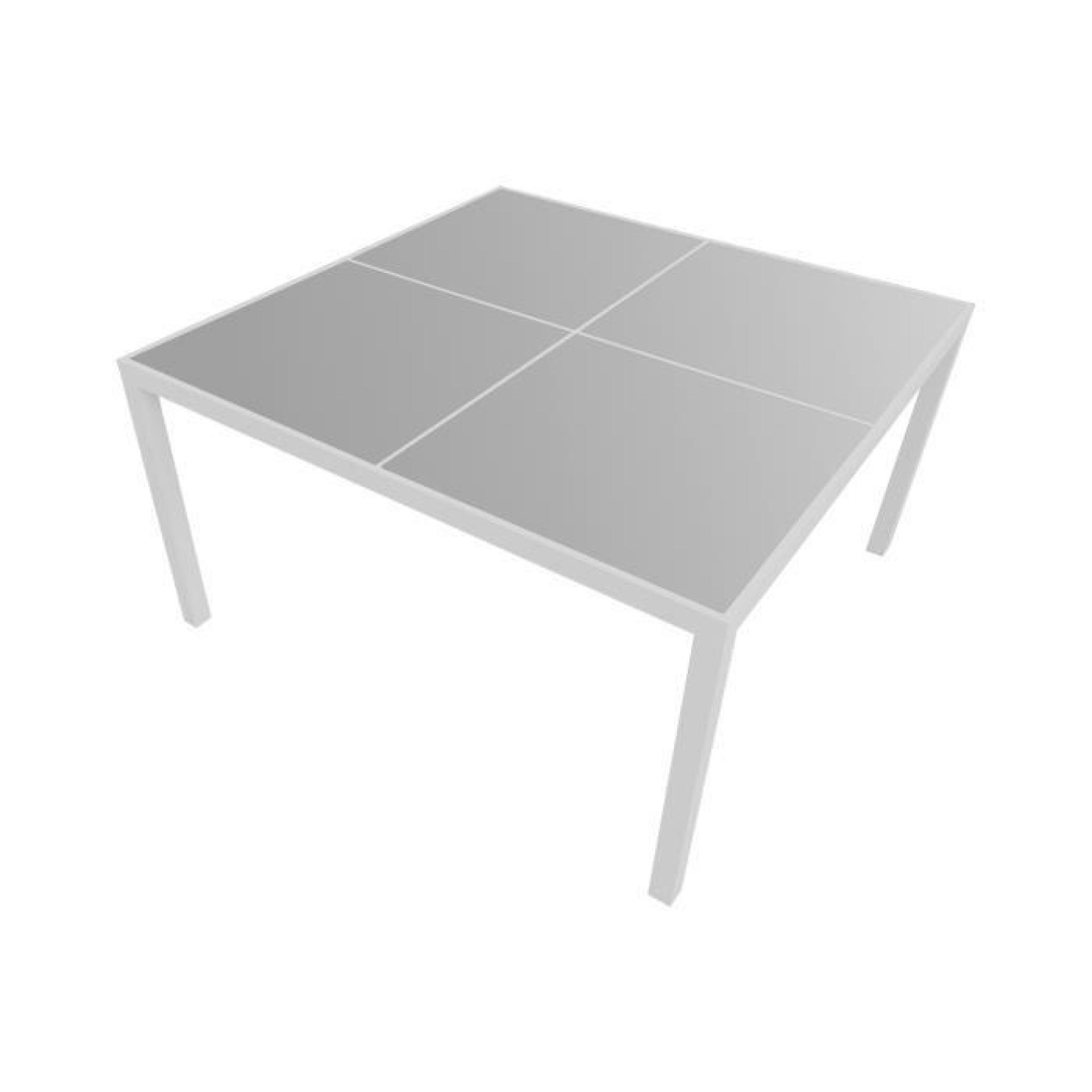 Salon de jardin CAGLIARI en textilène gris 8 places - aluminium ...