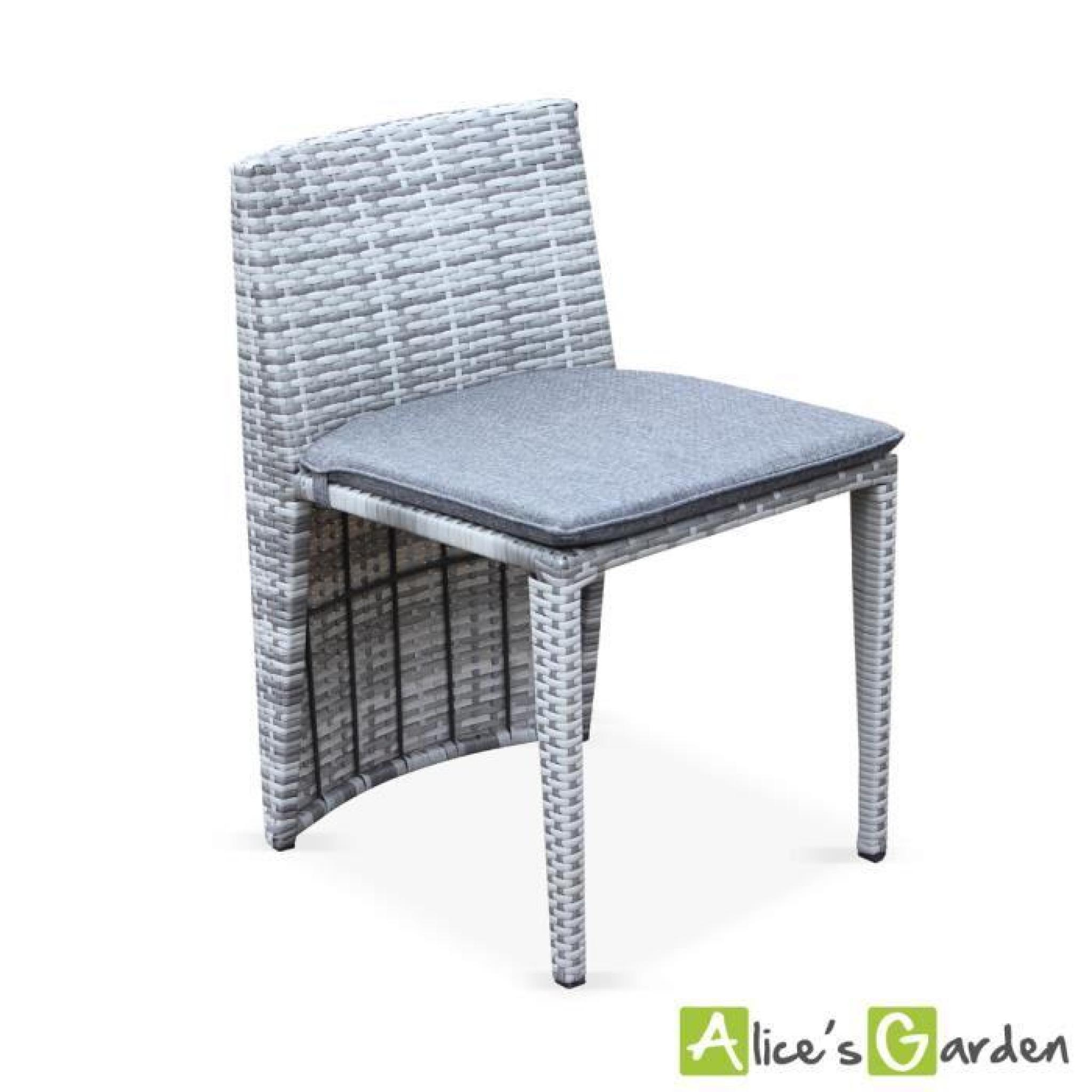 salon de jardin en r sine tress e nuances de gris 8 fauteuils table 200cm structure en. Black Bedroom Furniture Sets. Home Design Ideas