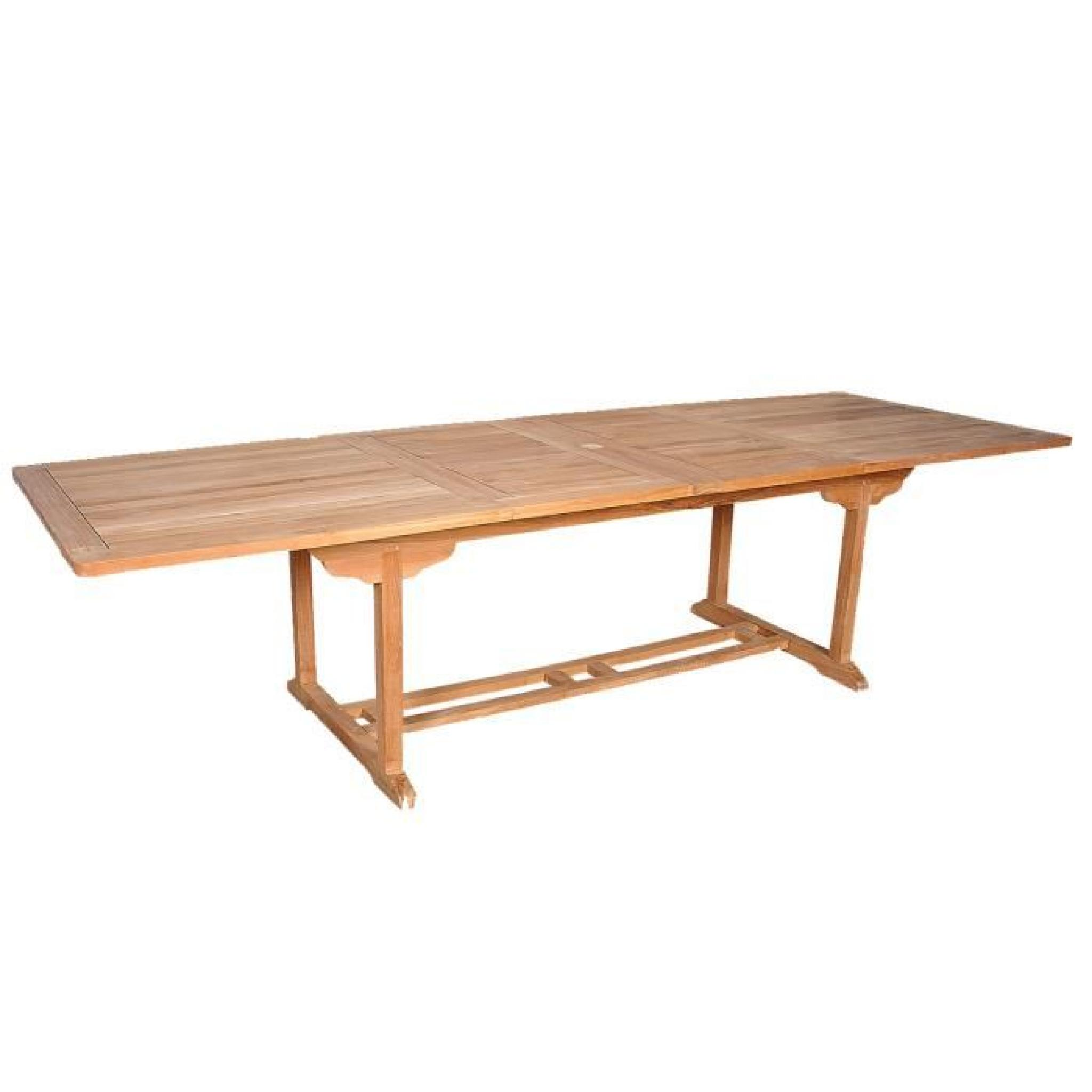 Salon de jardin en TECK BRUT QUALITE GRADE A 10/12 pers - Table ...