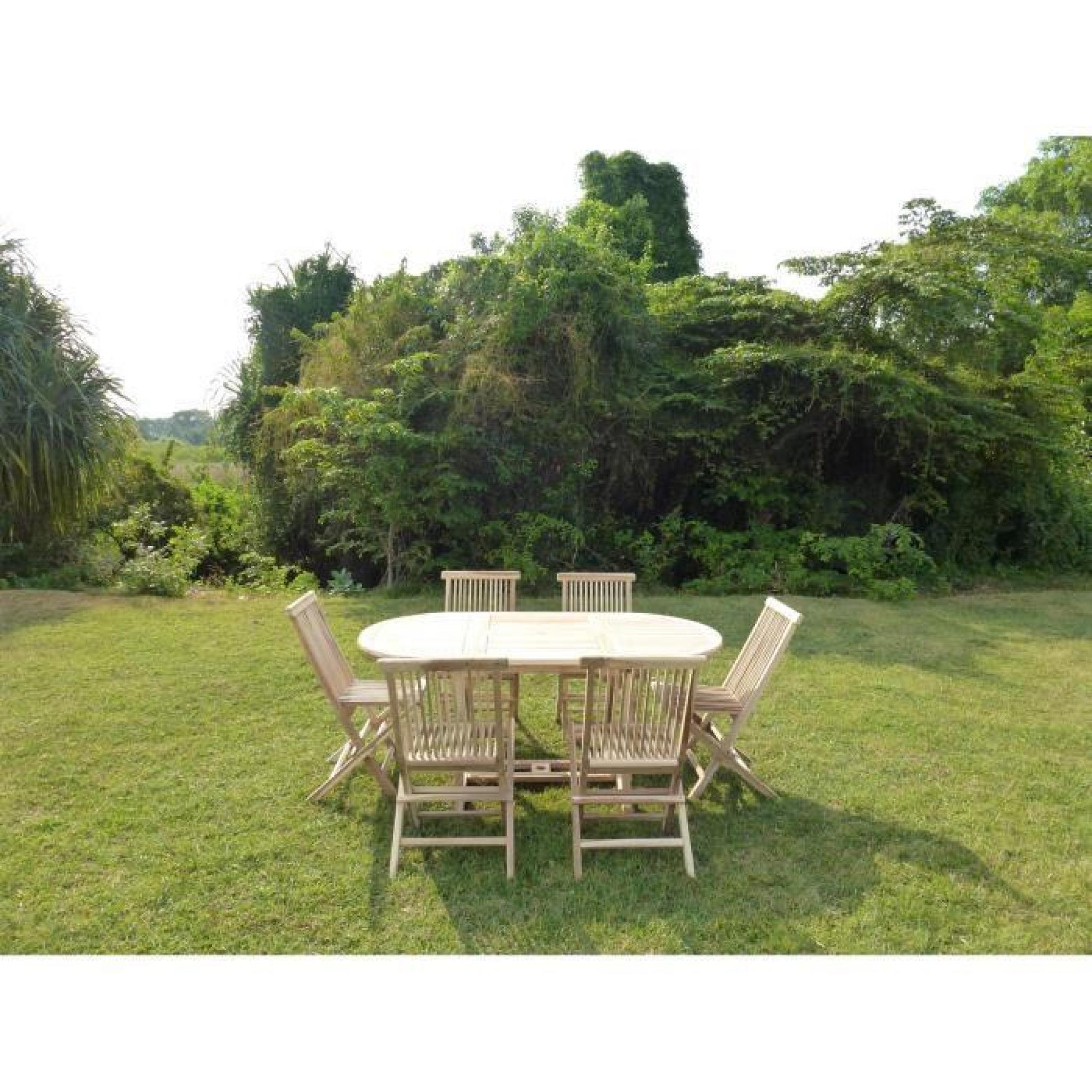 Salon de jardin en teck SOLO 6/8 places