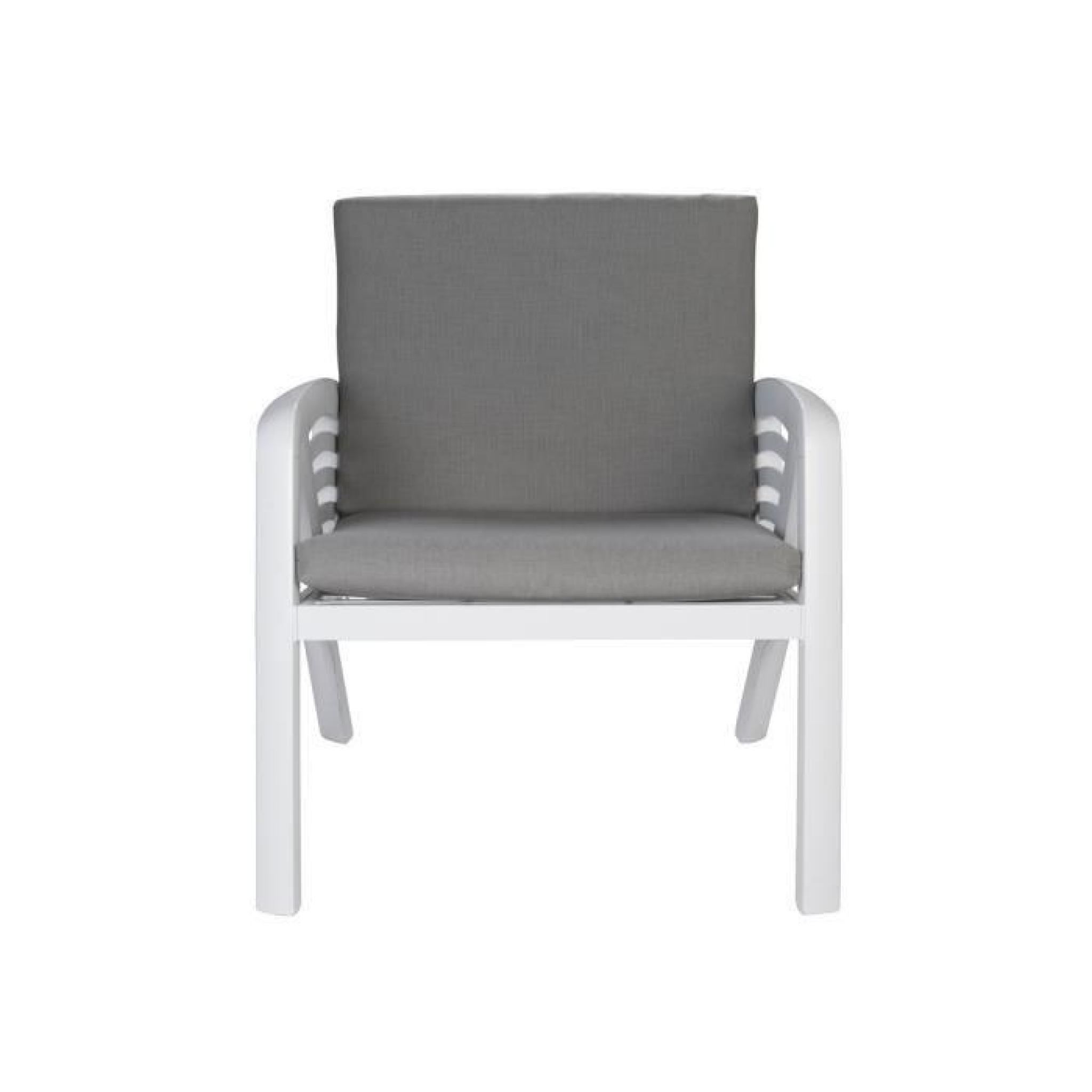Salon de jardin Lounge Sunday Copenhague - 1 canapé + 2 fauteuils + 1 table  basse