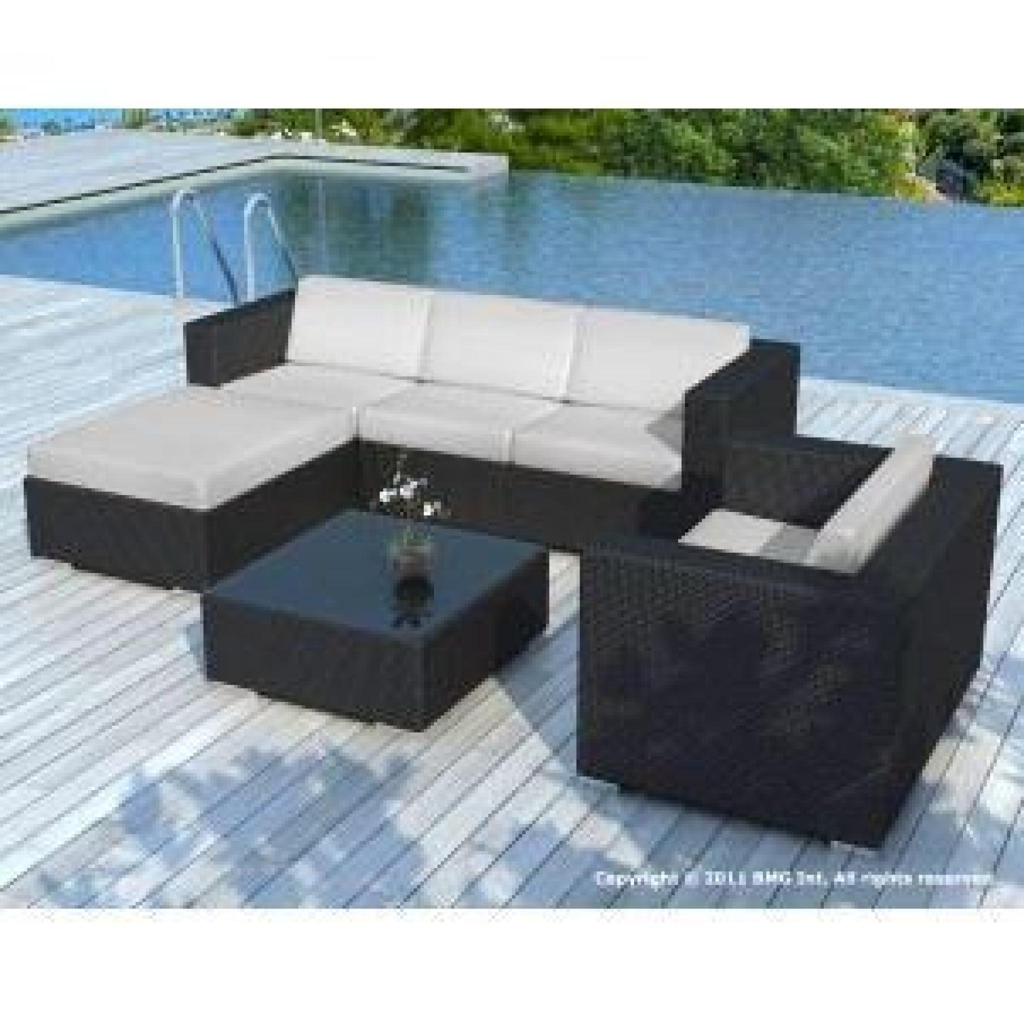 salon de jardin noire coussin gris clair sd8201 achat. Black Bedroom Furniture Sets. Home Design Ideas