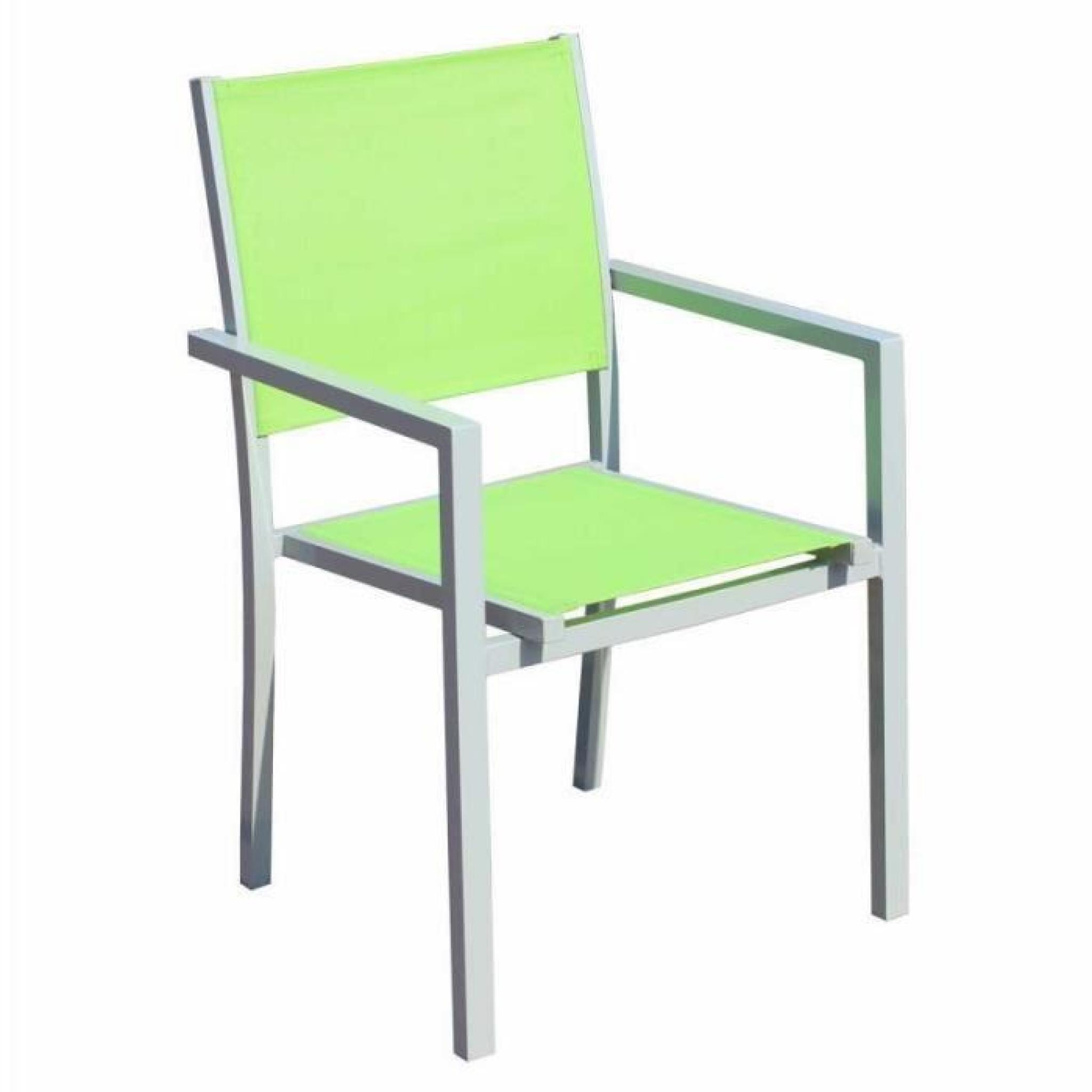Table et chaises de jardin - 8 fauteuils pliants - Aluminium et ...