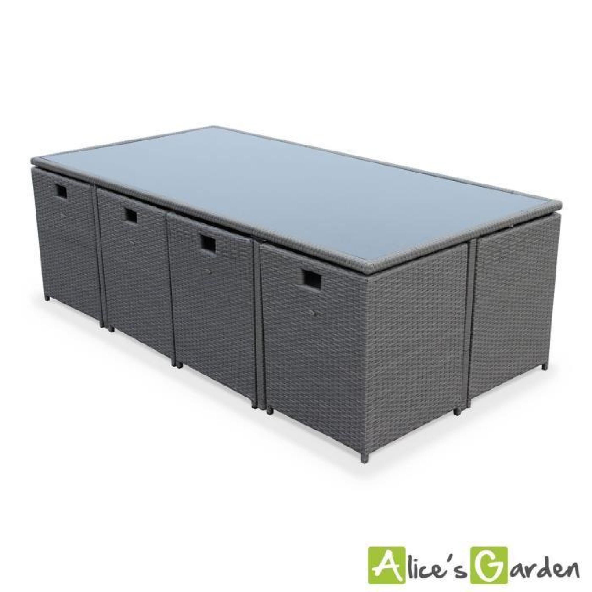 salon de jardin vasto achat vente salon de jardin en resine tressee pas cher. Black Bedroom Furniture Sets. Home Design Ideas
