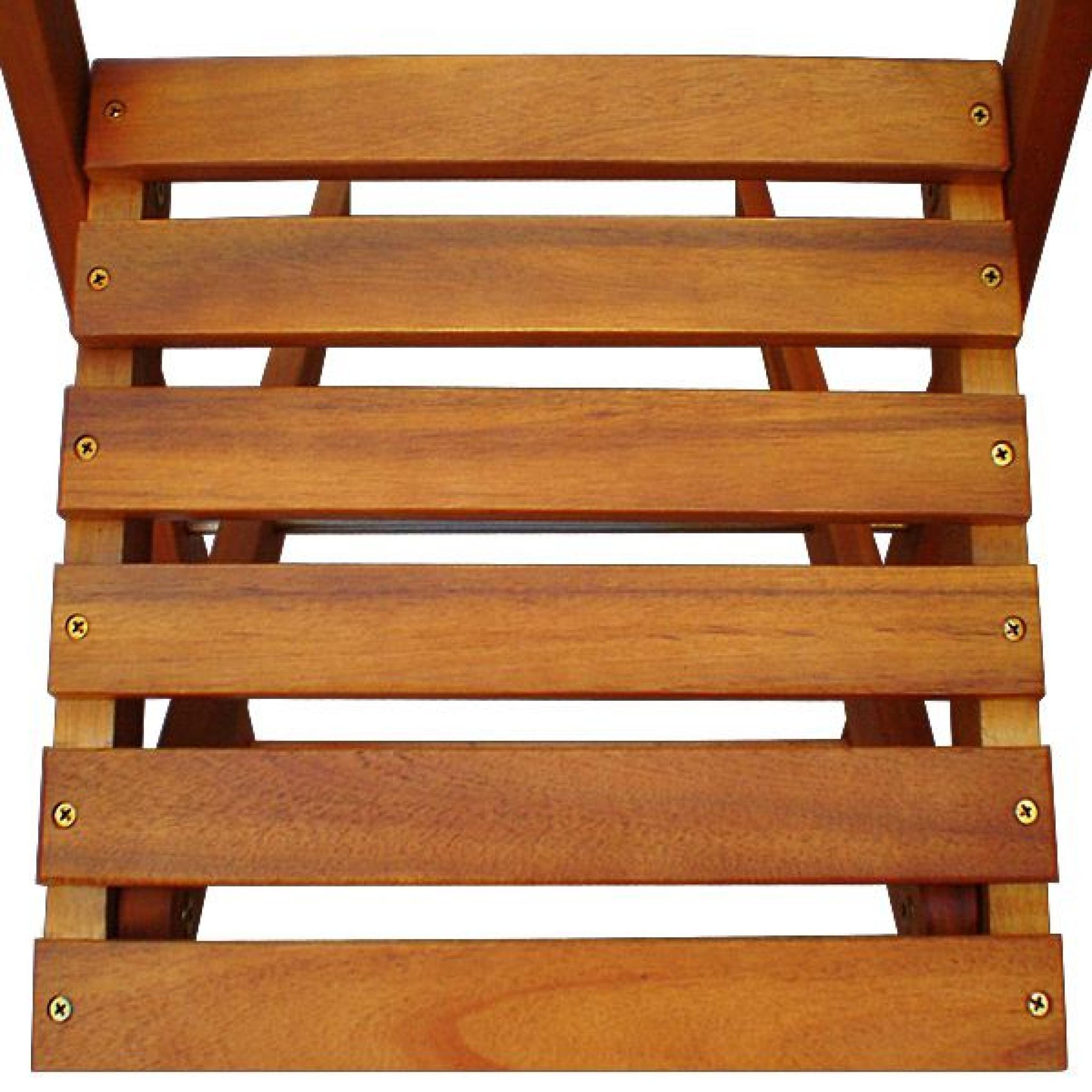 Salon de jardin en acacia 2 chaises 1 table - Achat/Vente salon de ...
