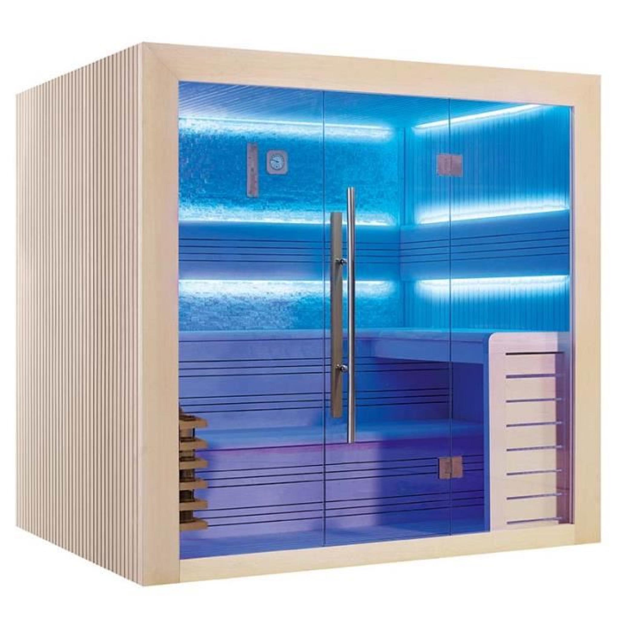 sauna traditionnels dallas 220 x 170 x 210 pin blanc achat vente sauna pas cher. Black Bedroom Furniture Sets. Home Design Ideas