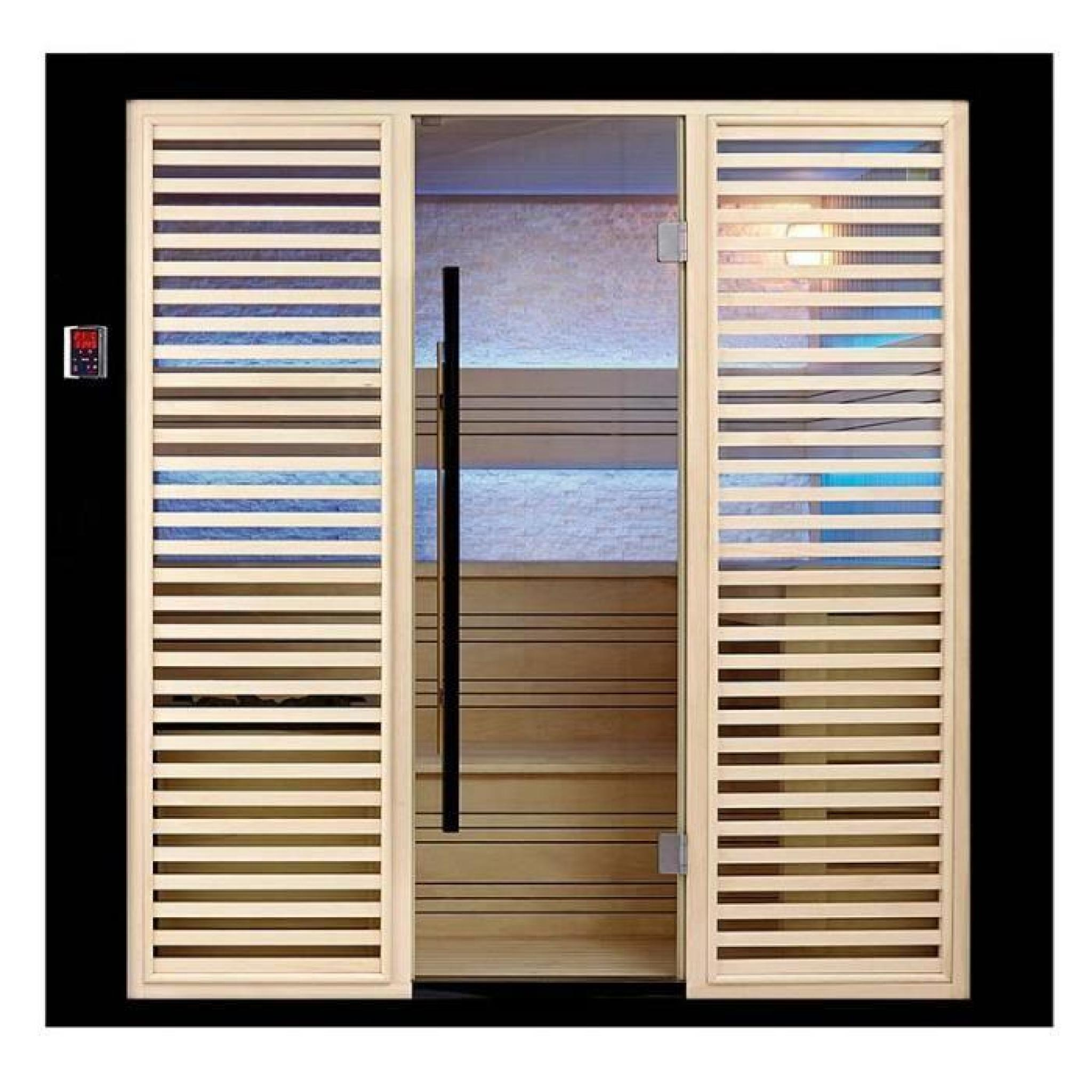sauna traditionnels arizona 200 x 170 x 210 pin blanc achat vente sauna pas cher. Black Bedroom Furniture Sets. Home Design Ideas