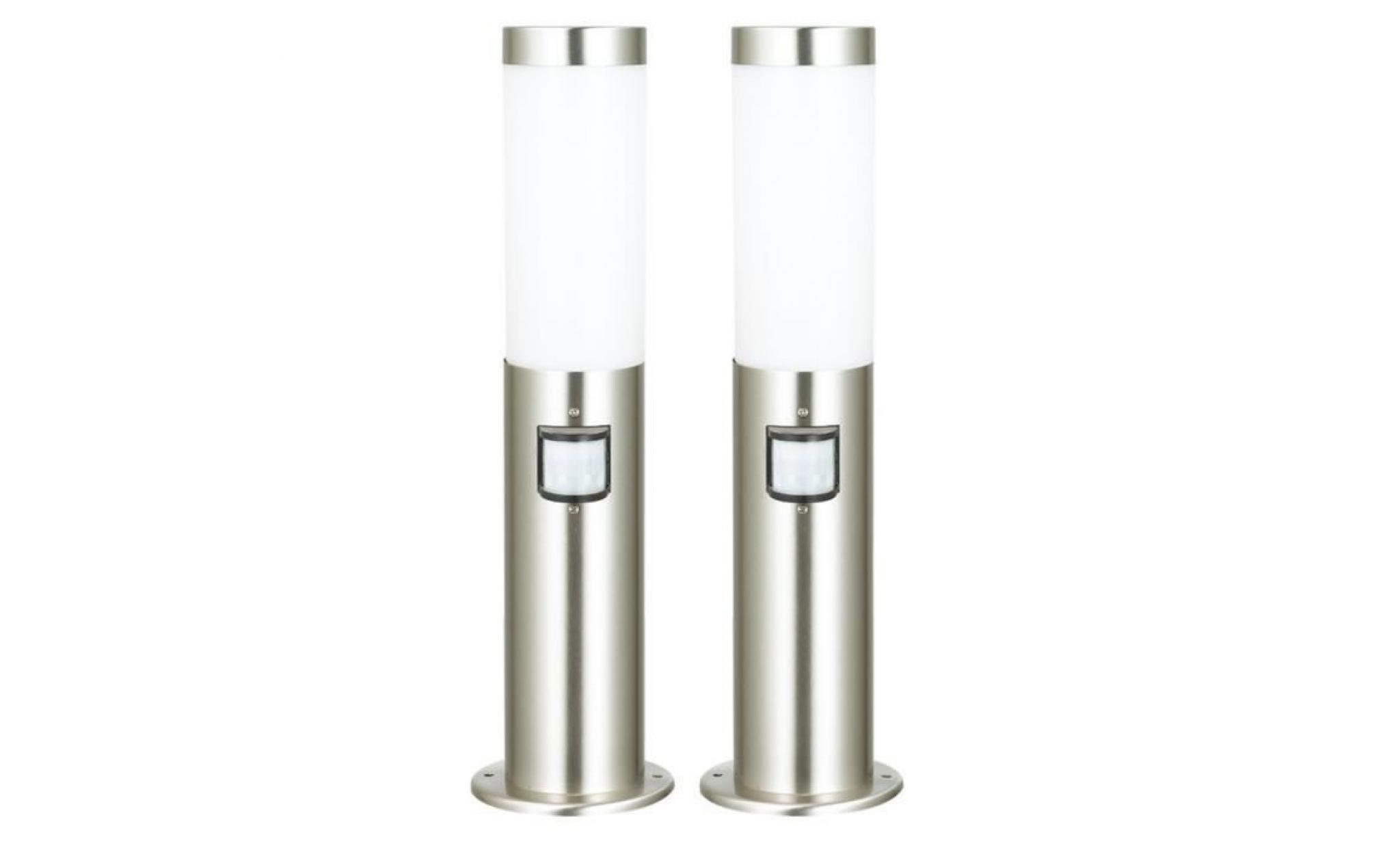 Set A 2 Lampadaires Luminaires Detecteur Mouvement Eclairage