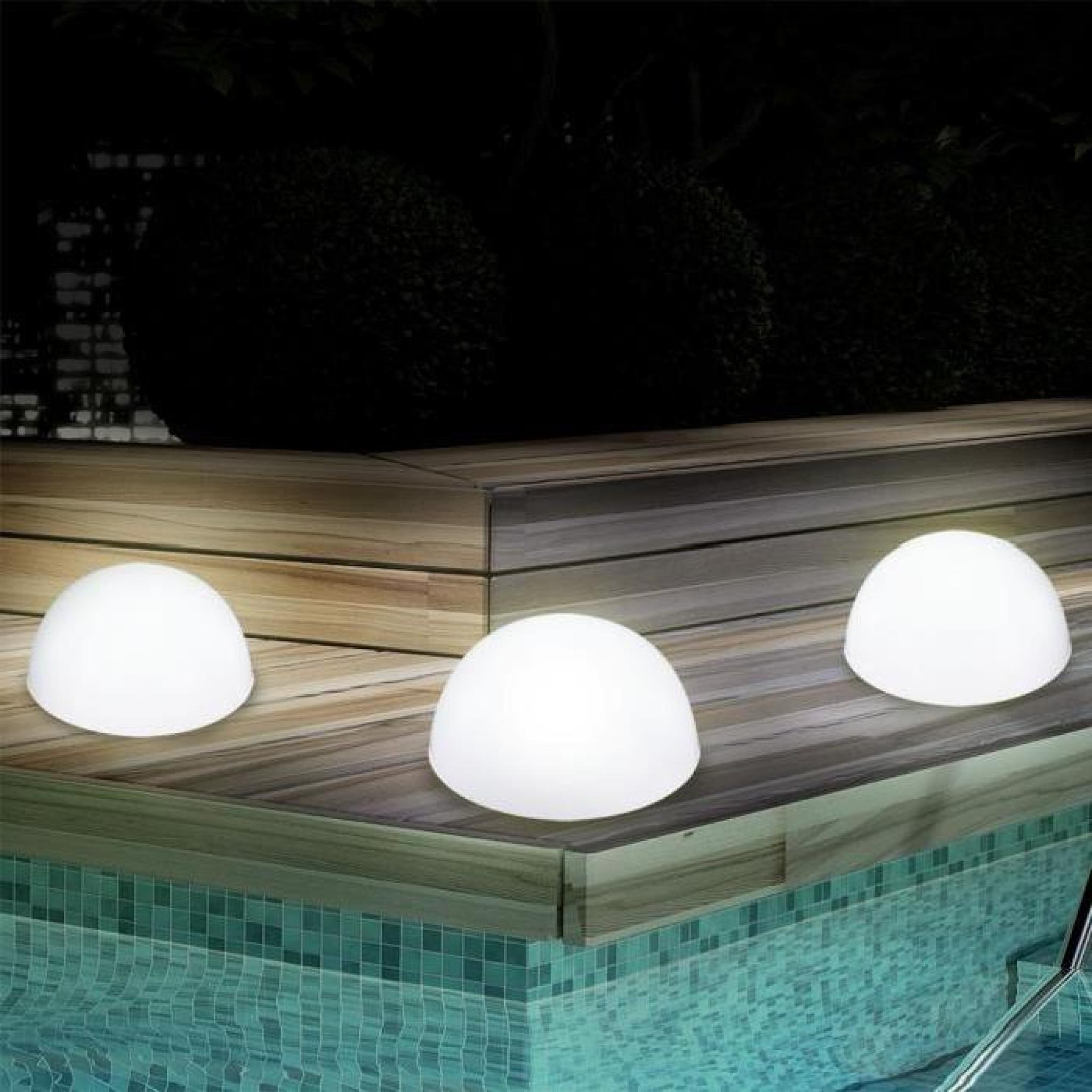 Set de 3 lampes solaires pour le jardin en forme boule solaire DEL ...