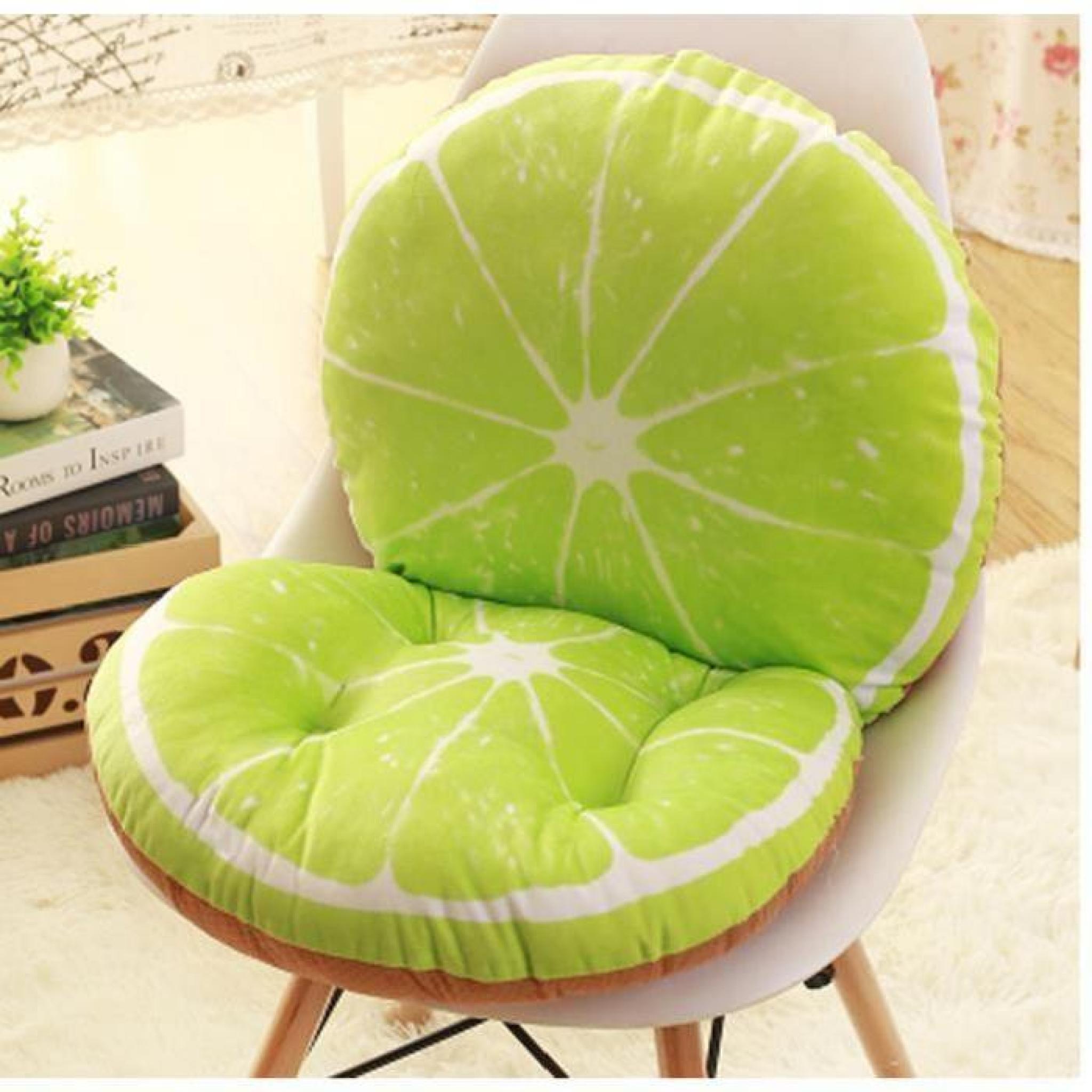 Simulation cr ative de coussin de chaise de citron coussin - Coussin chaise de jardin pas cher ...