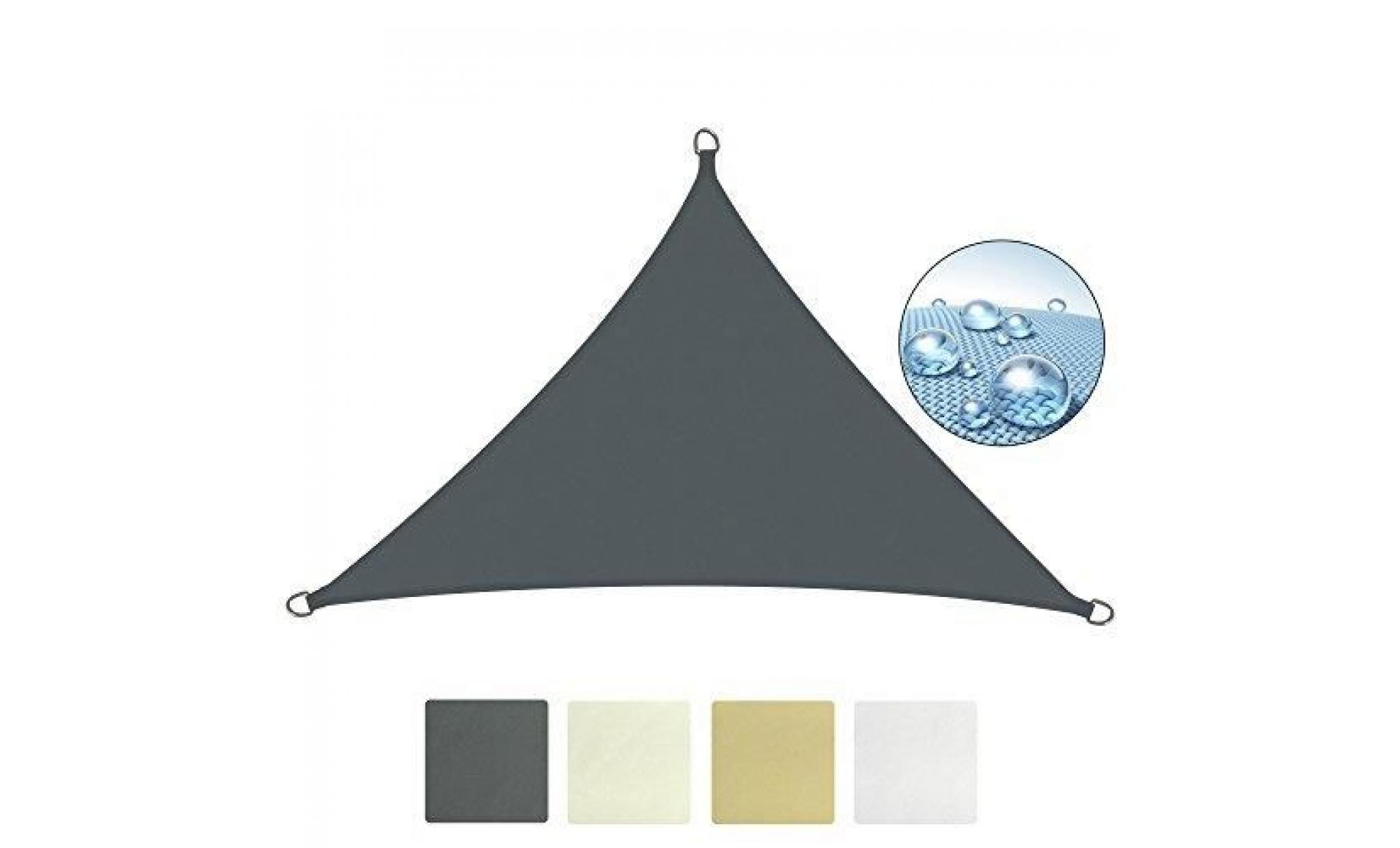 sol royal voile d'ombrage 600x420x420cm anthracite   solvision hs9   hdpe tissus respirant   protection solaire et uv