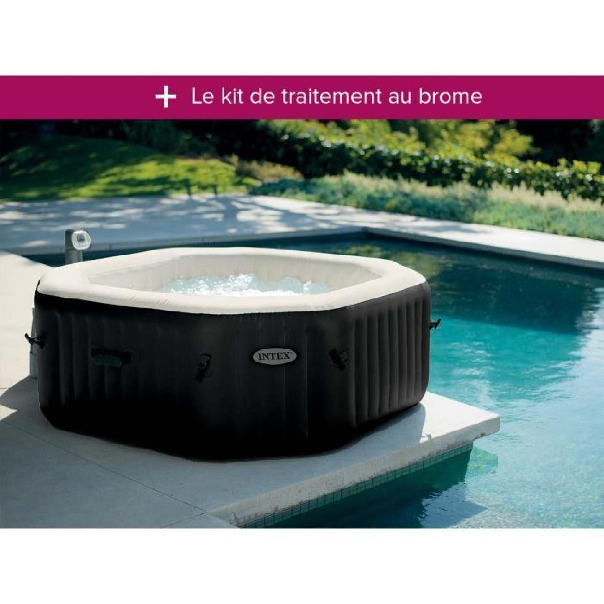 spa gonflable intex purespa octogonal bulles jets 6 places achat vente jacuzzi pas cher. Black Bedroom Furniture Sets. Home Design Ideas