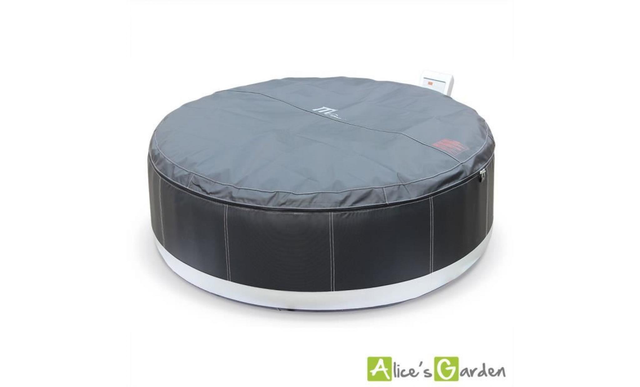 spa gonflable ottawa xxl cuir noir 6 personnes 205cm jacuzzi pu luxe avec pompe int gr e. Black Bedroom Furniture Sets. Home Design Ideas