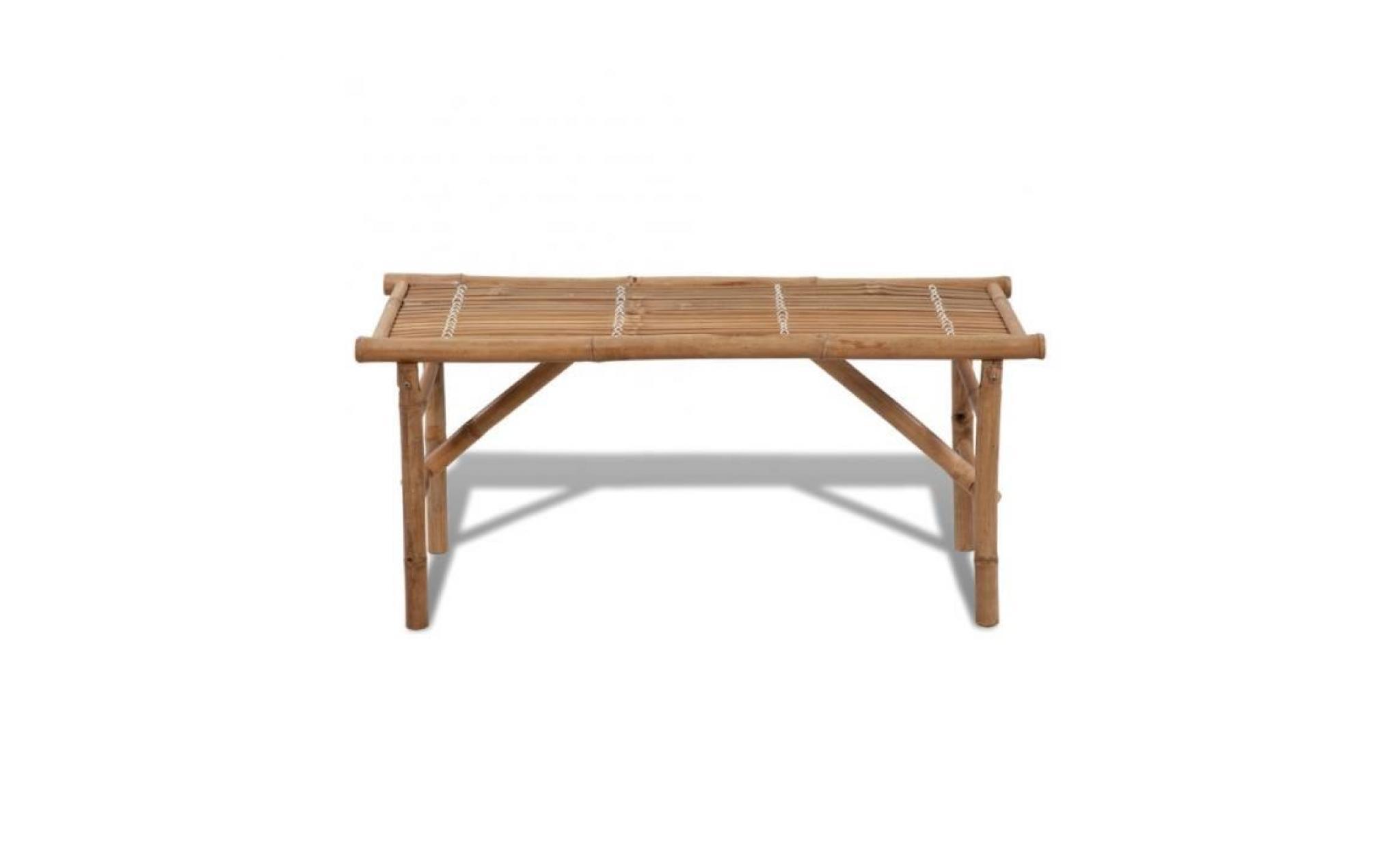 Superbe banc pliable en bambou achat vente banc de for Banc de jardin en bois pas cher