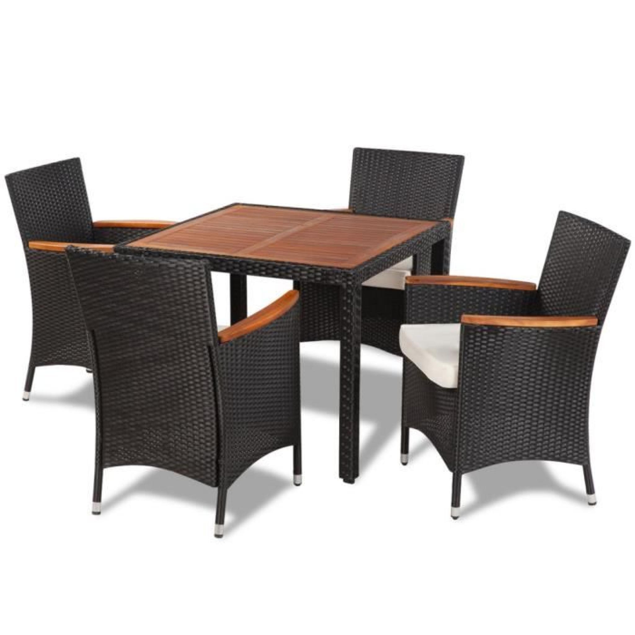 Table + 4 chaises en résine MAJA+ - Achat/Vente ensemble ...