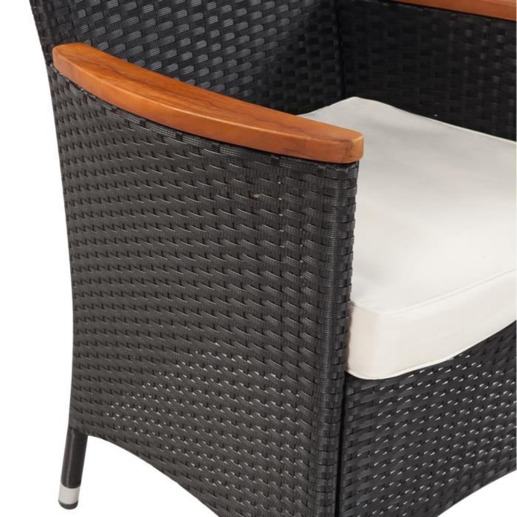 Table à manger avec plateau en bois et 4 chaises en ...