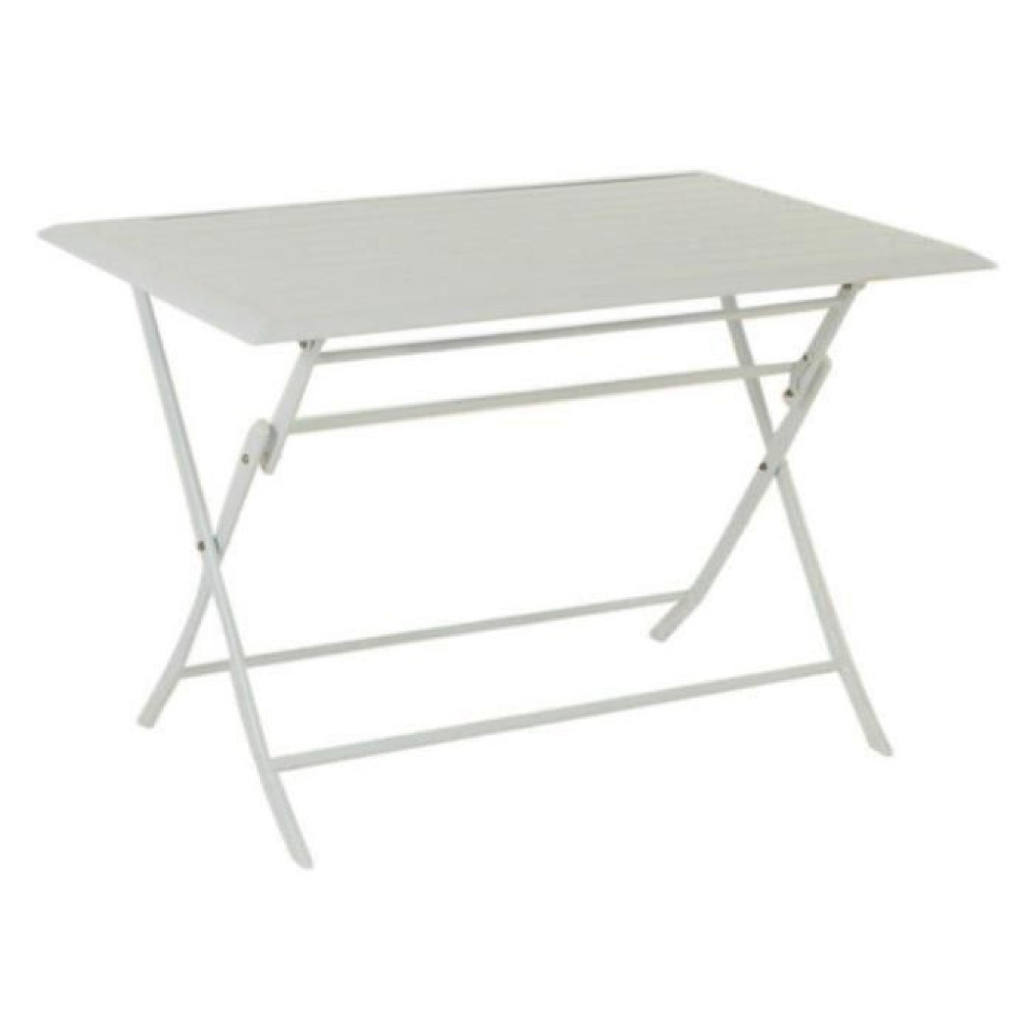 TABLE AZUA HESPERIDE PLIANTE ALU BLANC 4 PLACES - Achat/Vente table ...