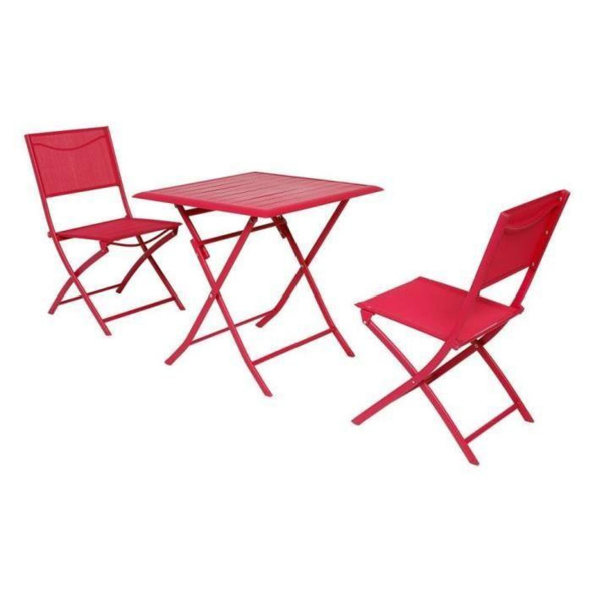 Table azua hesperide pliante alu cerise 2 places achat - Table de jardin hesperide azua ...