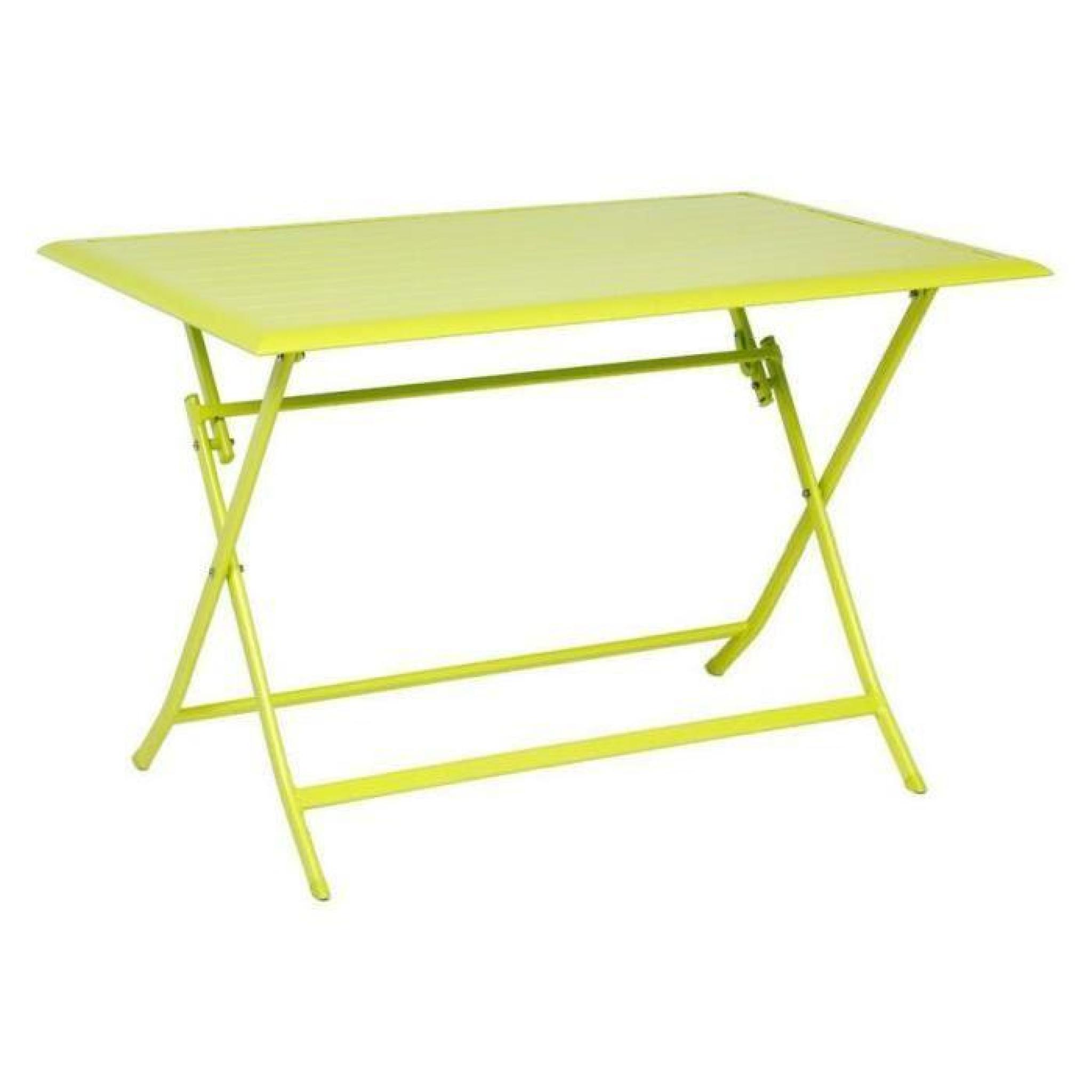 TABLE AZUA HESPERIDE PLIANTE ALU GRANNY 4 PLACES