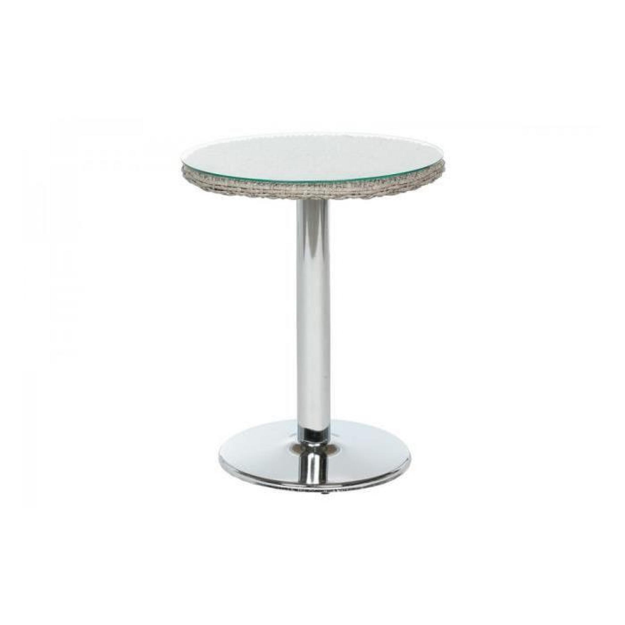 Table bistro exterieur ronde libertad sepia hesperide for Table exterieur plastique noir