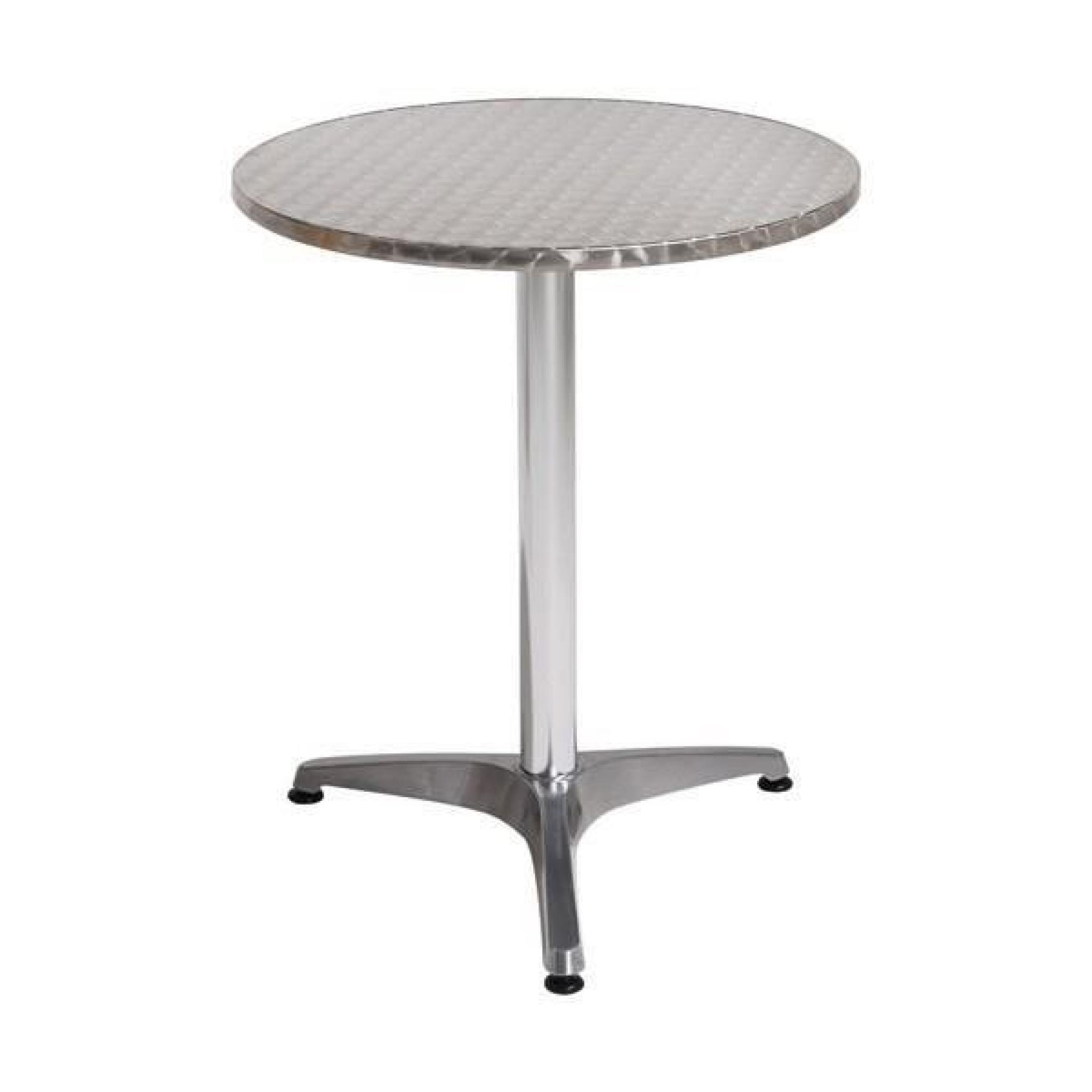 Table bistrot ronde d 60 cm aluminium achat vente - Salon de jardin bistrot pas cher ...