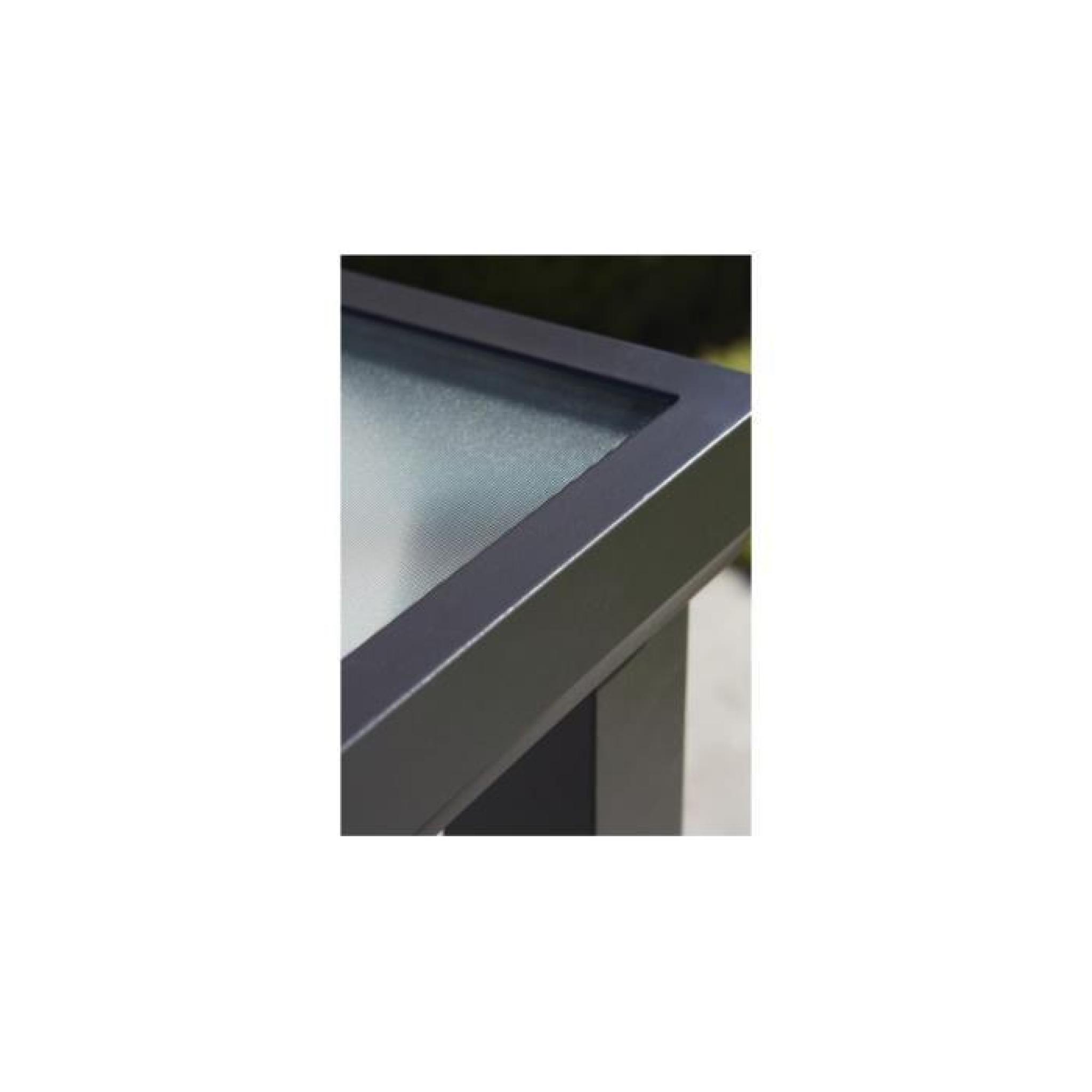 Table de jardin aluminium noir plateau verre trempé L210 - Achat ...