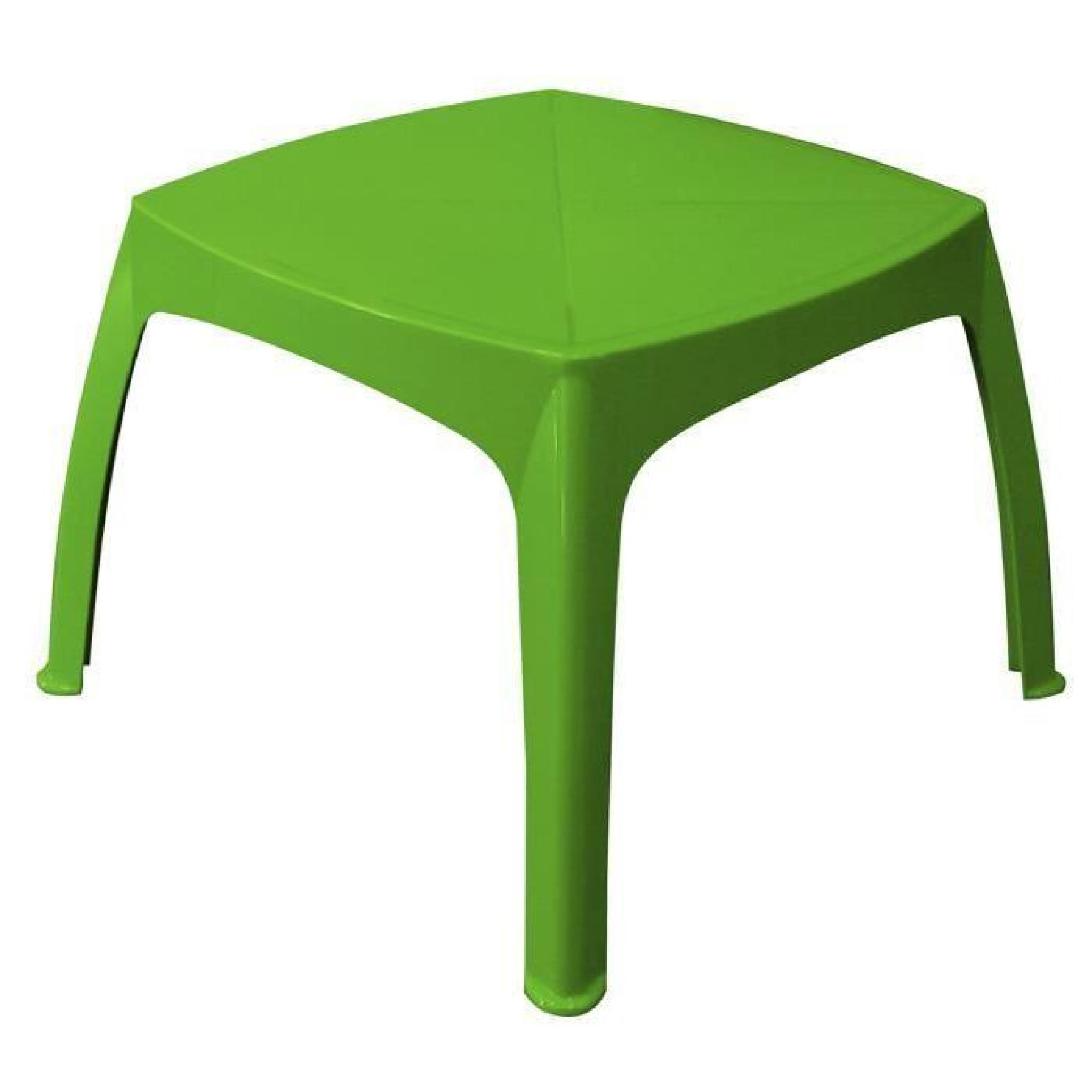 Table de jardin enfant pistache achat vente table de for Table de terrasse pas cher