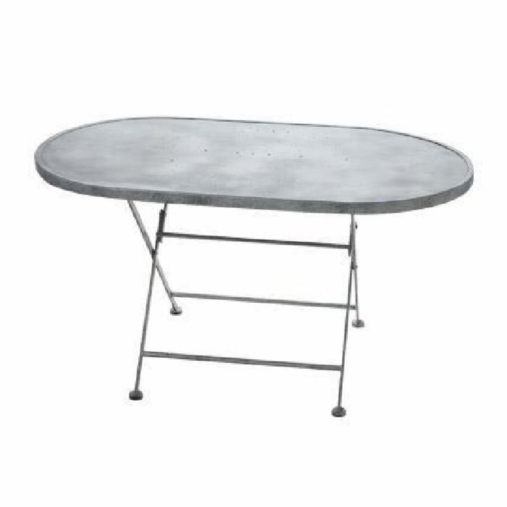 table de jardin ovale metal pliante achat vente table de jardin pliante pas cher. Black Bedroom Furniture Sets. Home Design Ideas