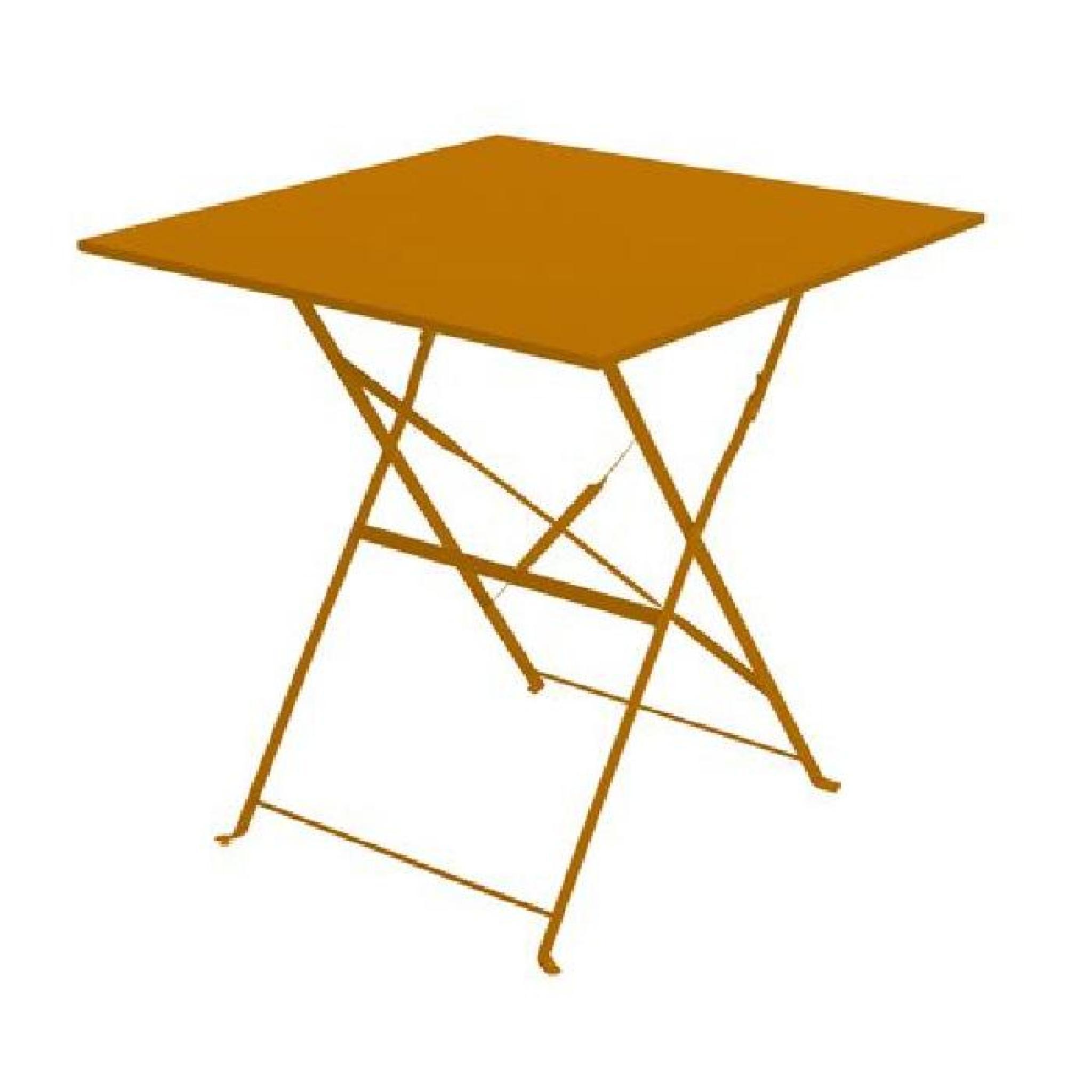 70cm Camargue de x Orange 110 pliante Table jardin 92WDEHI