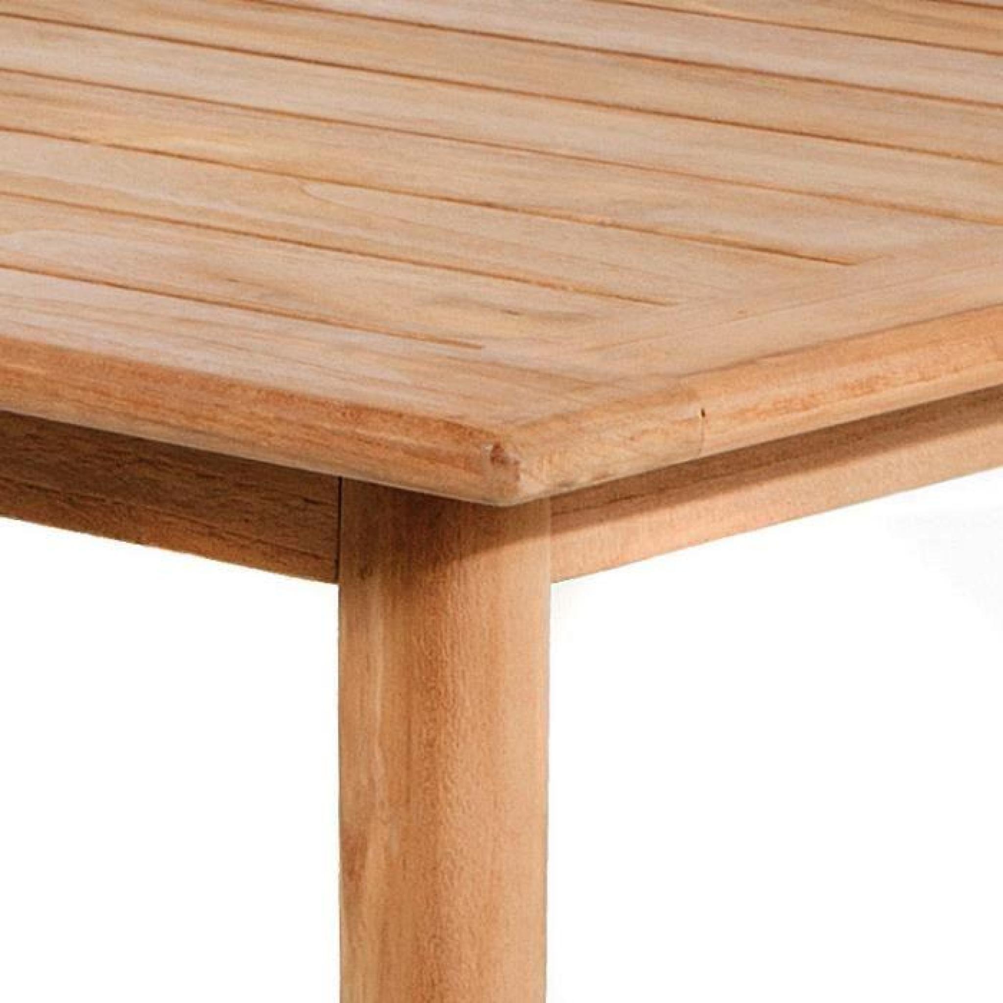 Table en teck massif recyclé 160 x 90 cm Sudbury