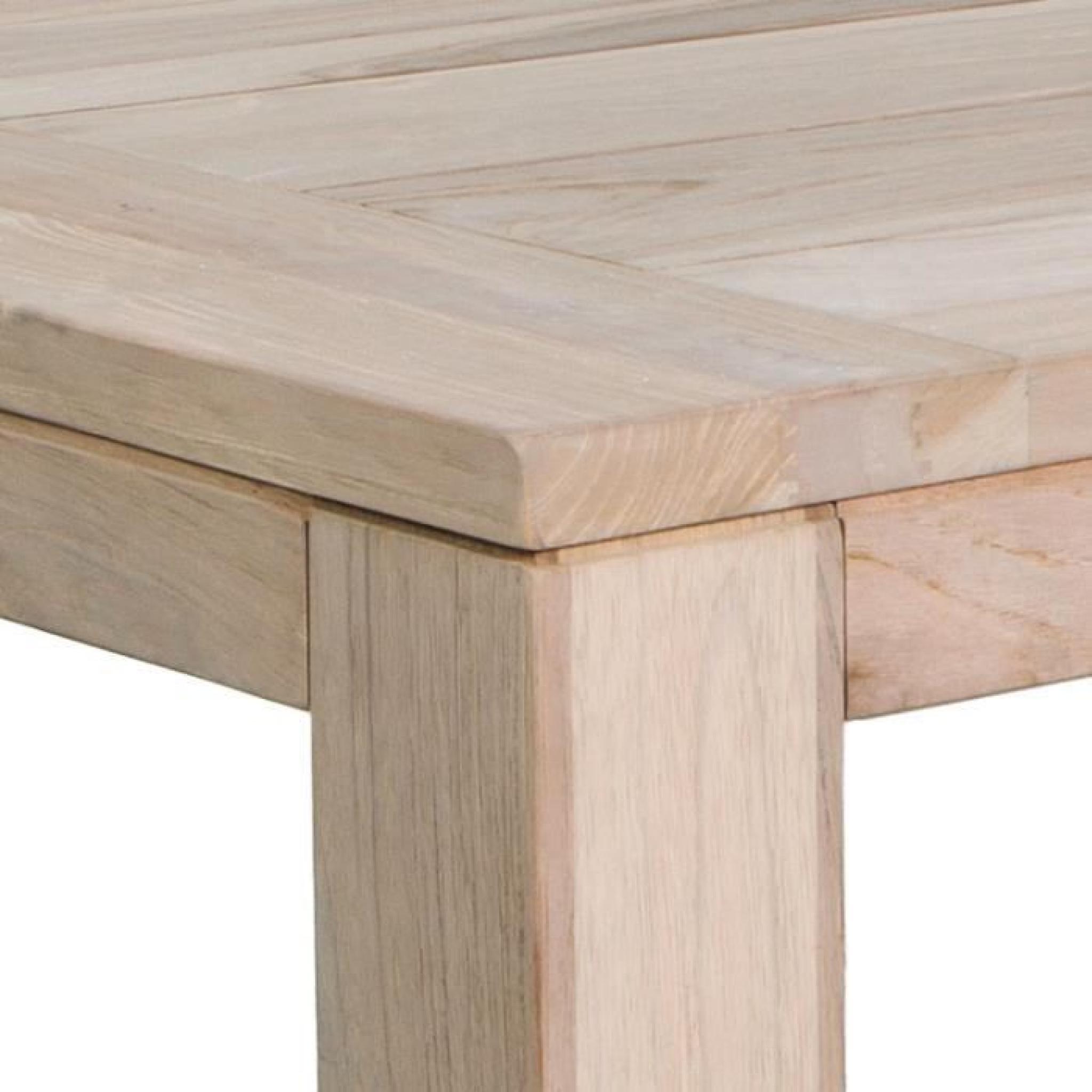 Table en teck massif recyclé 270 x 100 cm Oban - Achat/Vente table ...