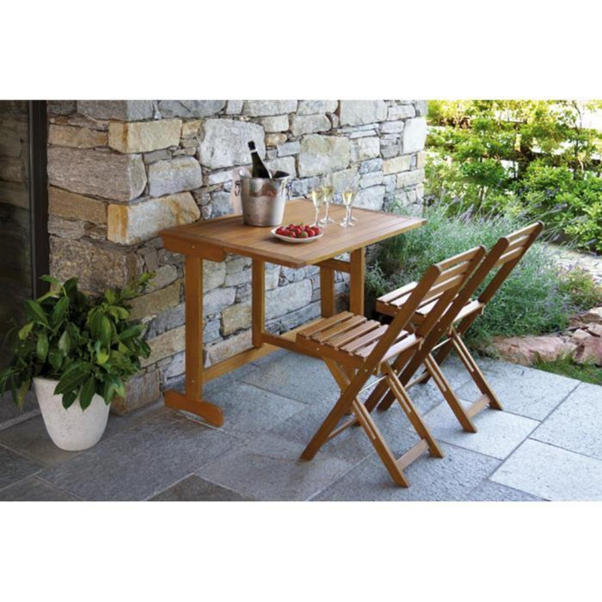 Table et 2 chaises de jardin pliables en bois achat vente salon de jardin e - Table et chaises jardin ...