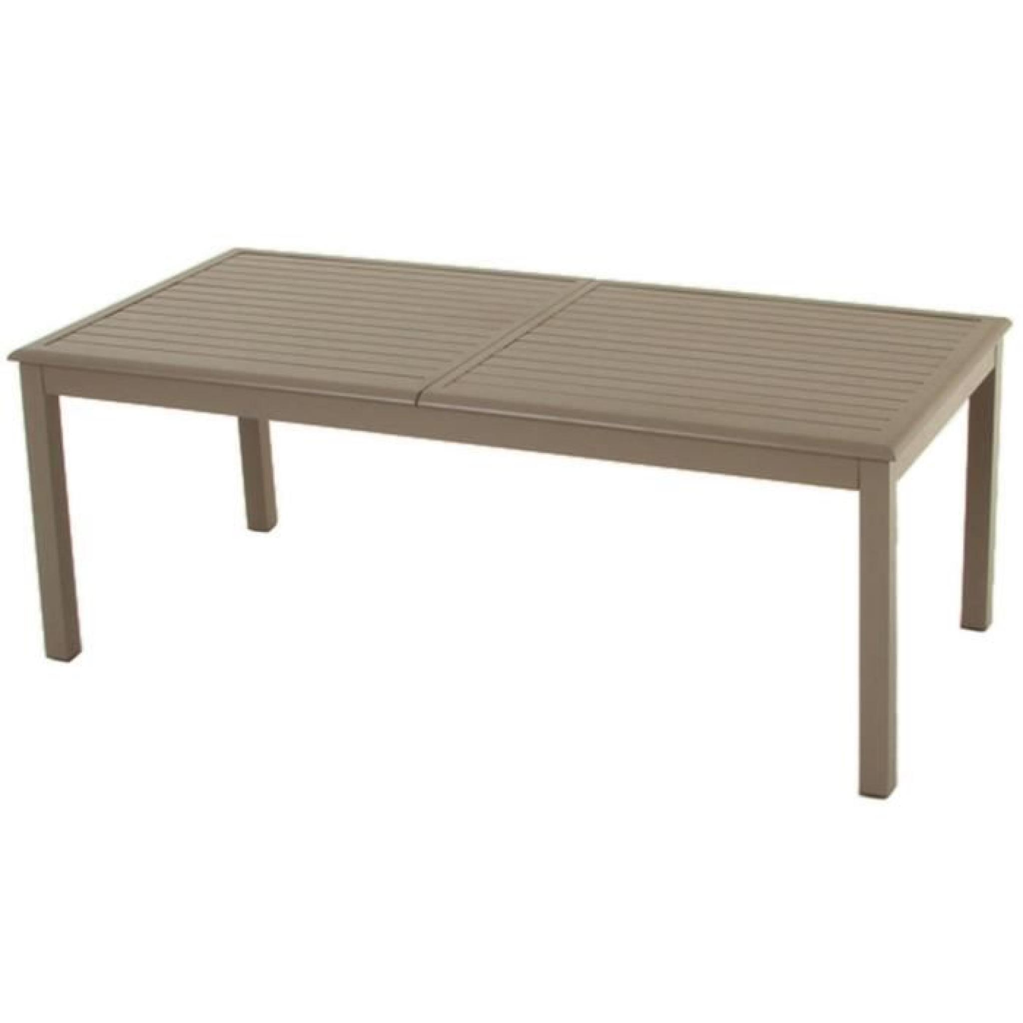 Table extensible en aluminium de couleur taupe dim l for Table de 100