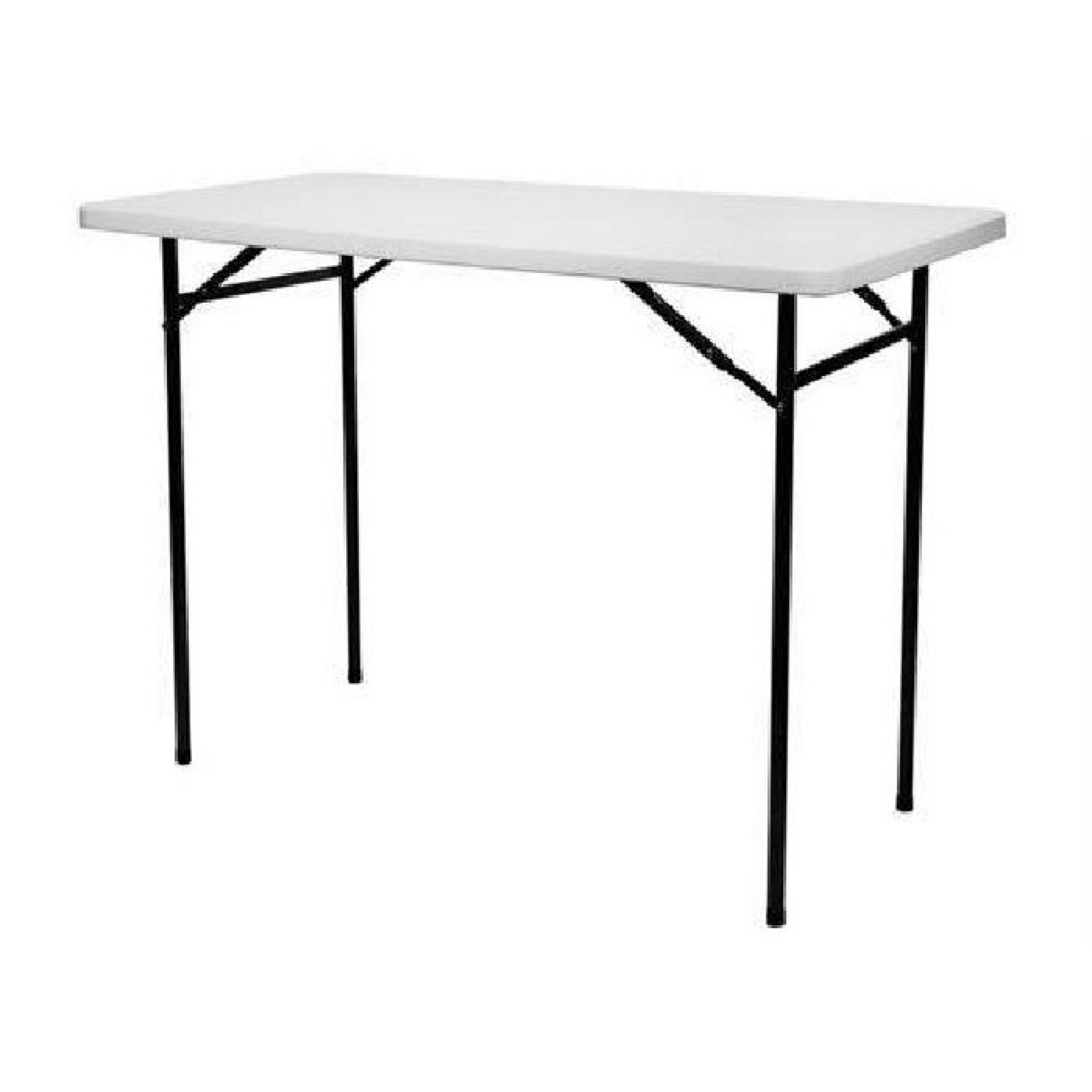 Table Haute Pliante - Rectangulaire - 152 X 76 X 110 Cm