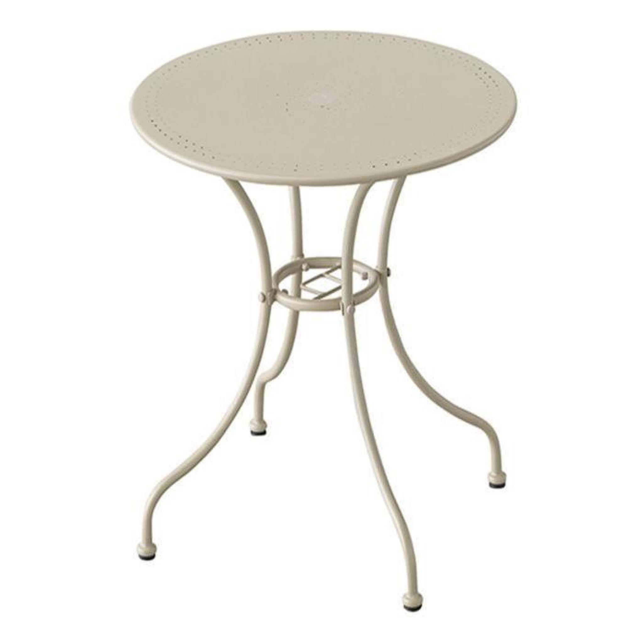 Table Manuela ronde Taupe 2 places - Dim : 70 x 71