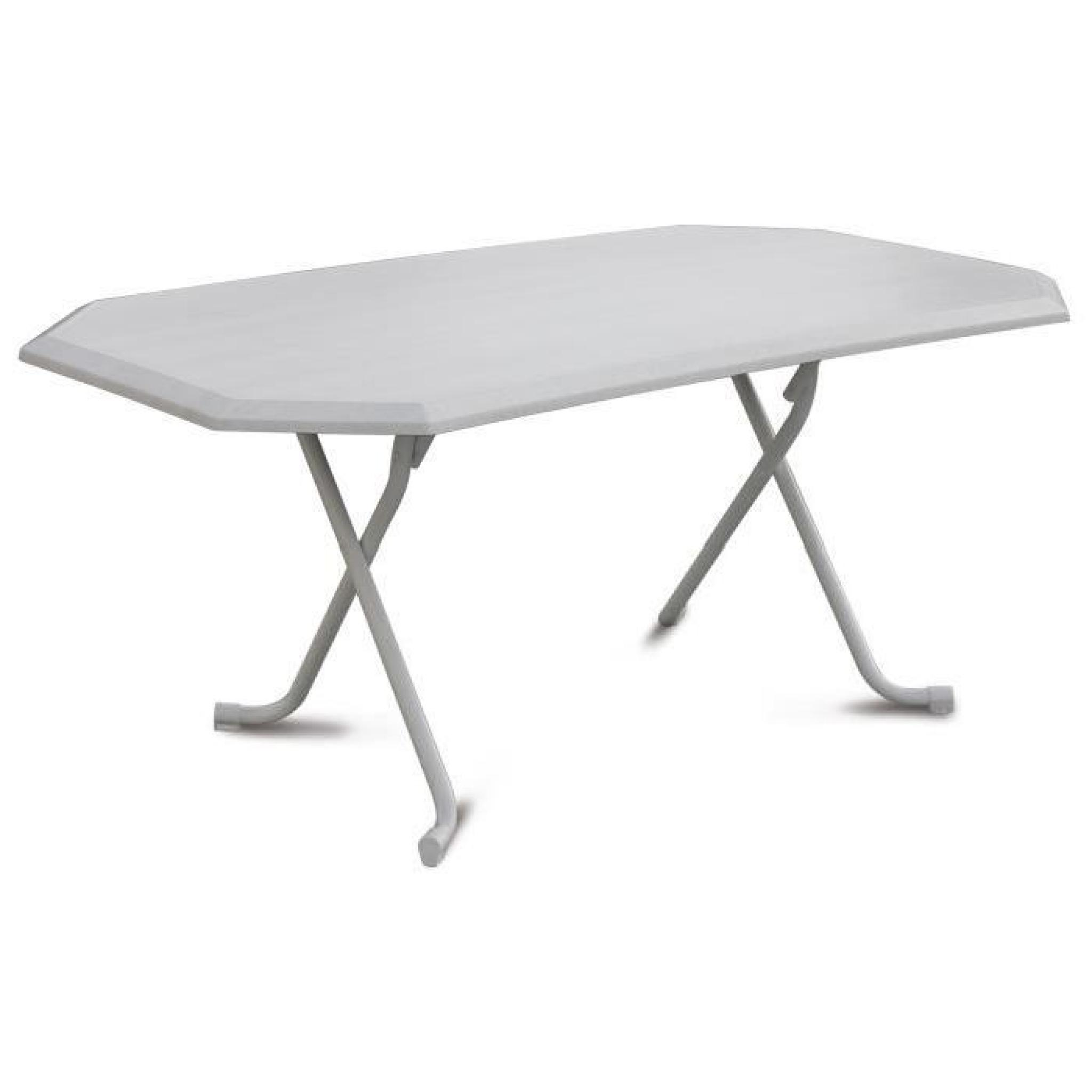 Table pliante 6 personnes 165 x 95 x 71 cm cm d cor marbre for Table 6 personnes