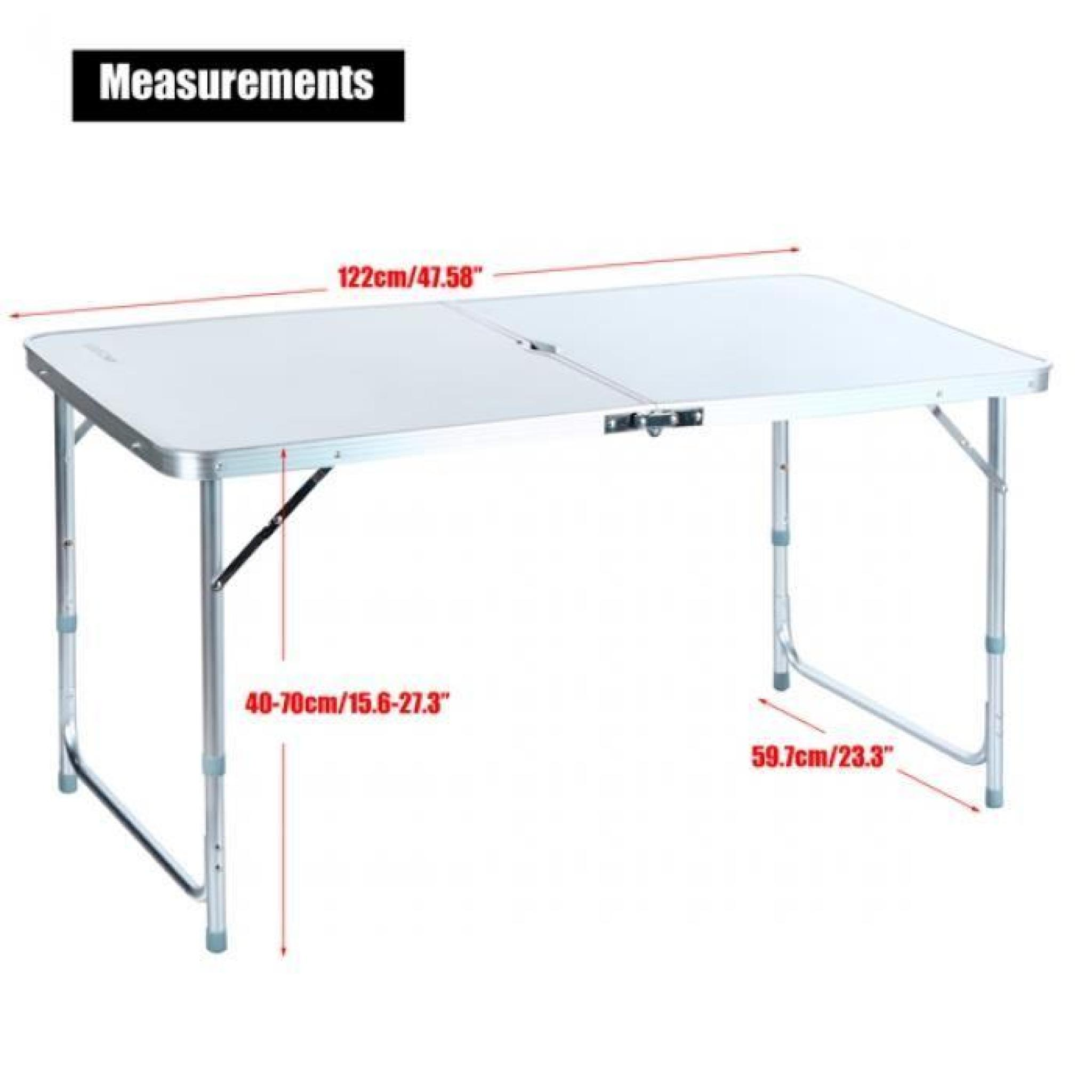 table pliante camping table pliante avec poign e portable de petite table l 39 ext rieur de. Black Bedroom Furniture Sets. Home Design Ideas