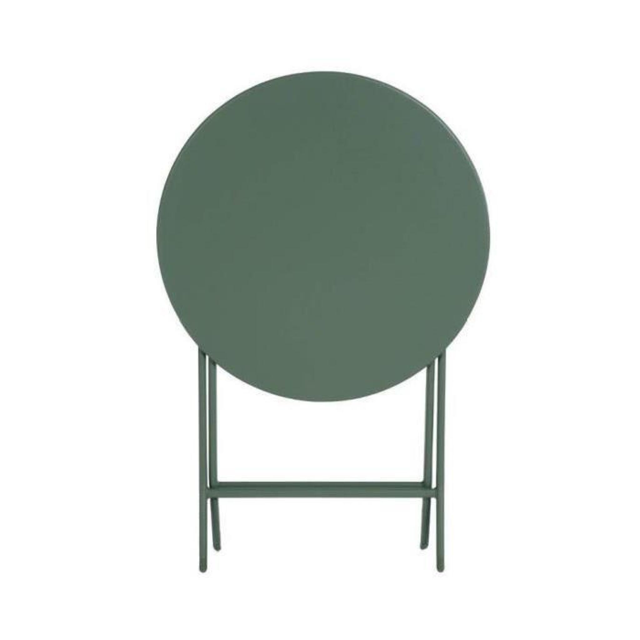 TABLE PLIANTE GREENSBORO HESPERIDE RONDE KAKI