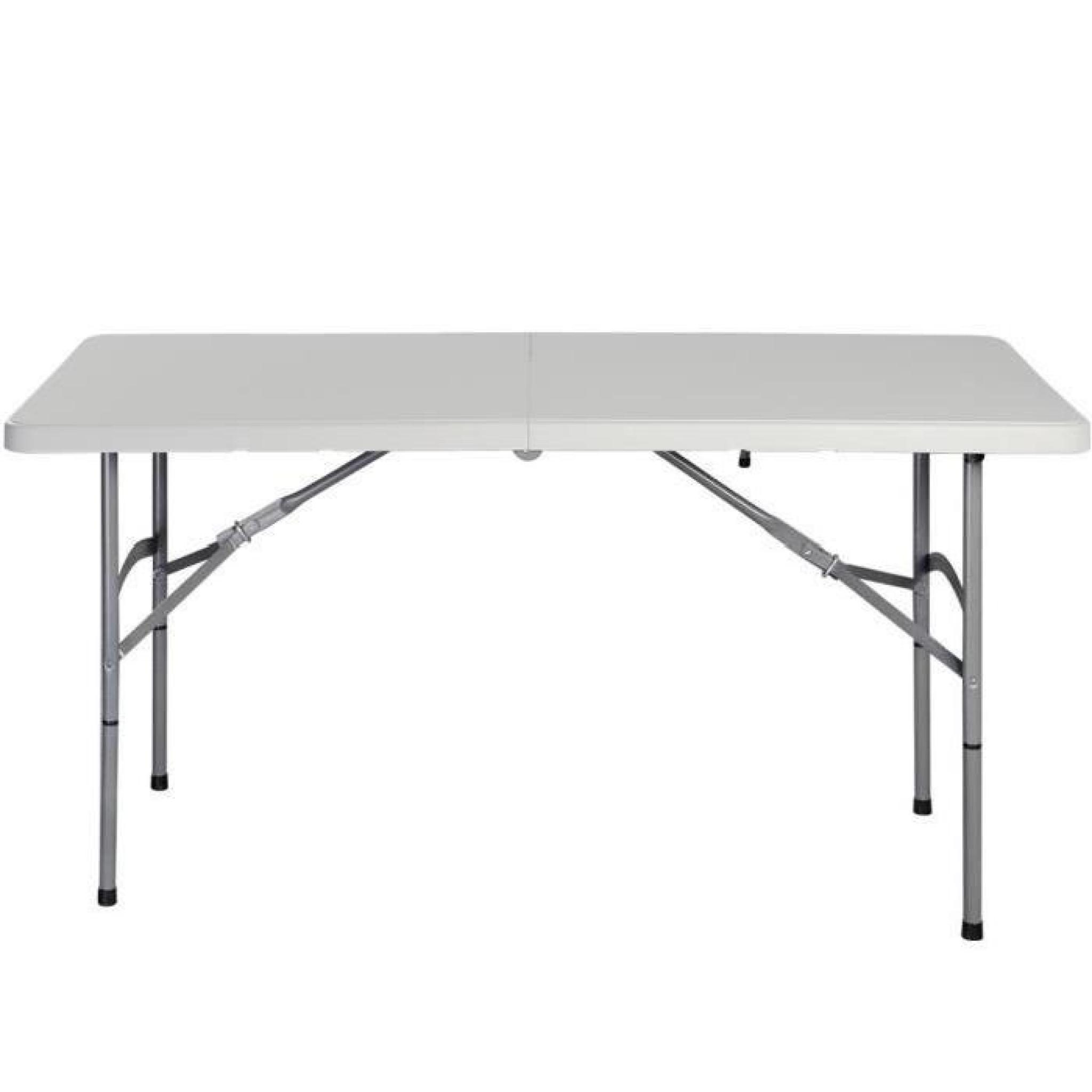 Table pliante portable table de camping valise jardin 122cm