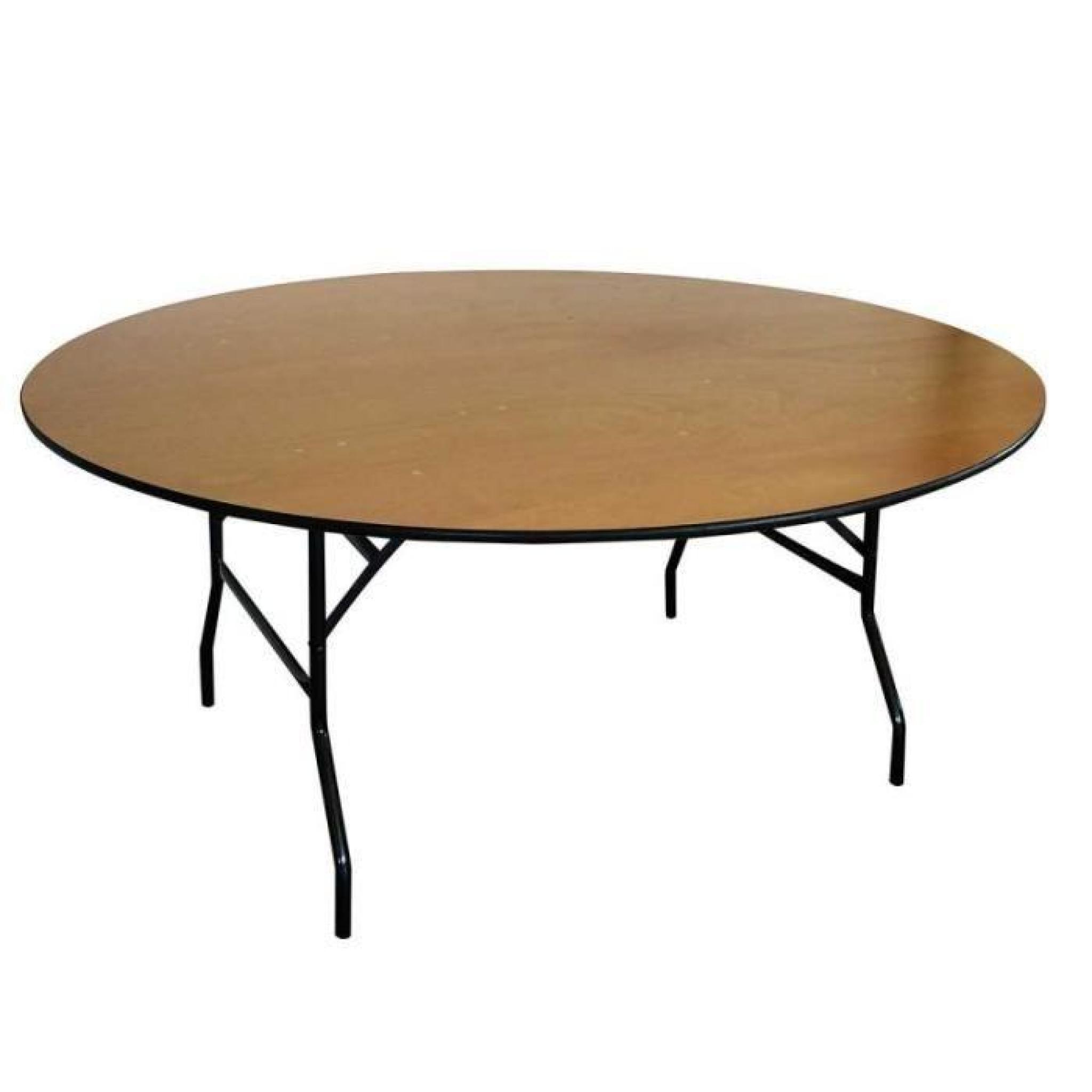 Table pliante ronde en bois 170 cm jardin