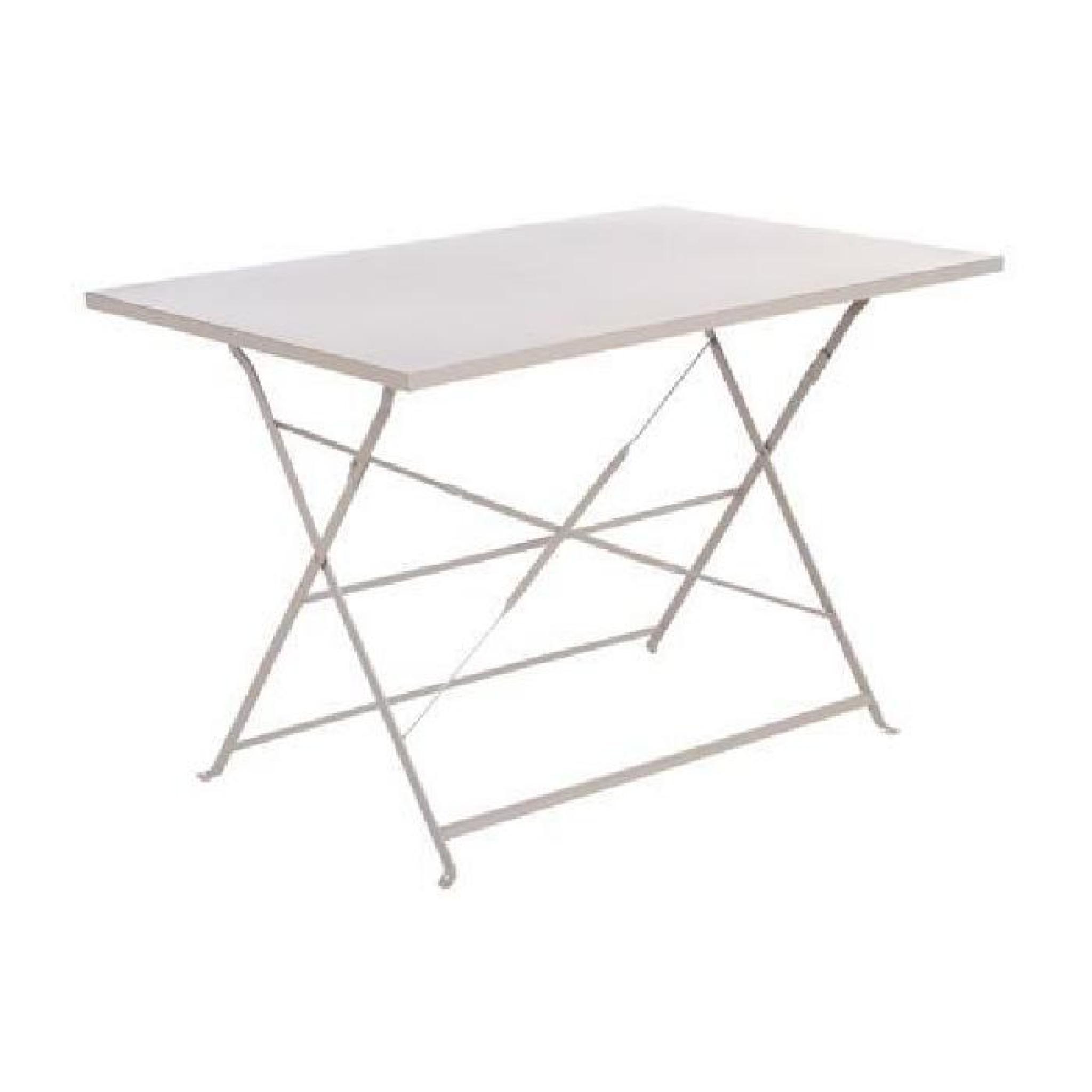 Table rectangulaire pliante Camargue - 4 Places - Bleu lagon